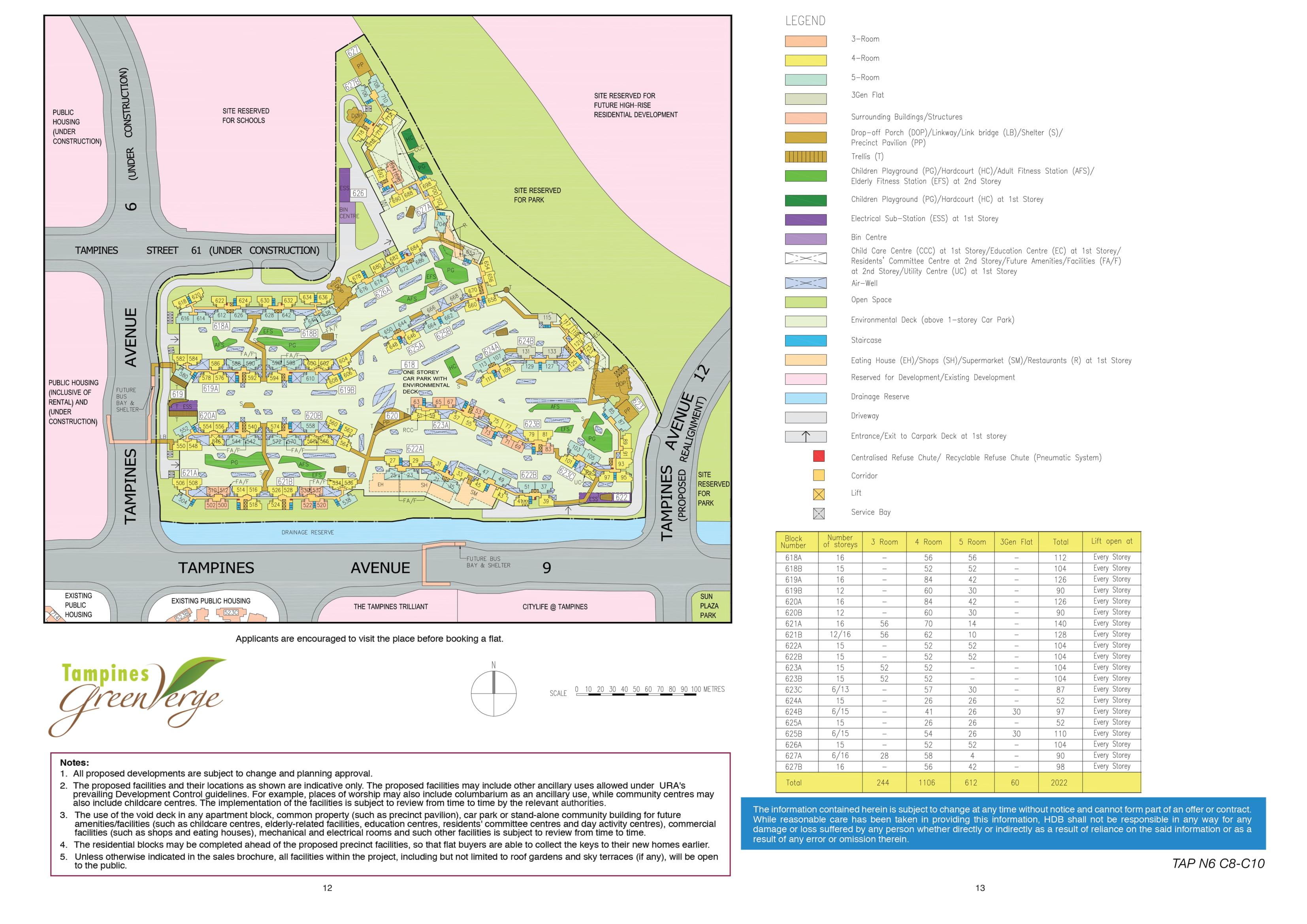 Tampines GreenVerge Site Plan