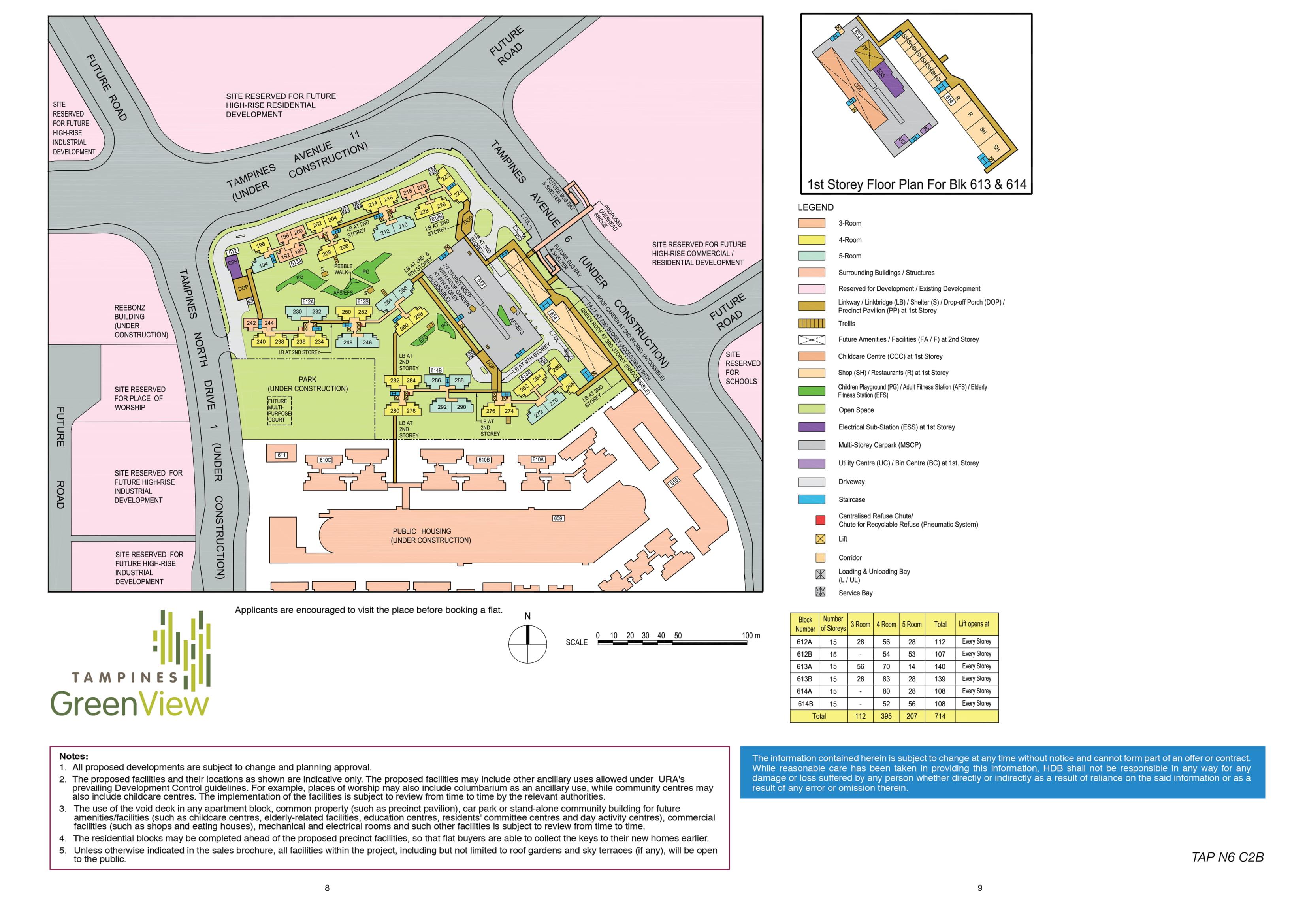 Tampines GreenView Site Plan