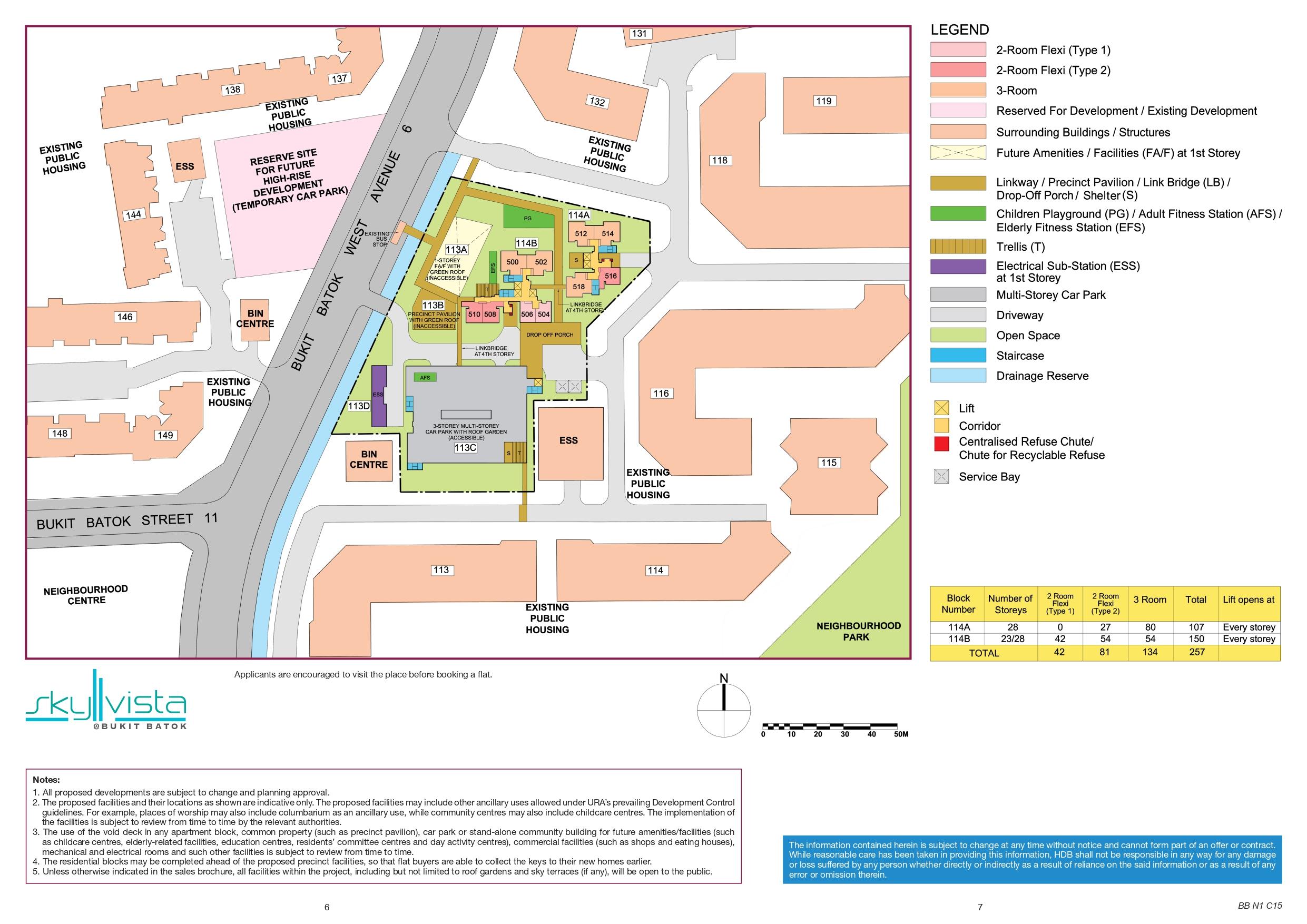 Sky Vista @ Bukit Batok Site Plan