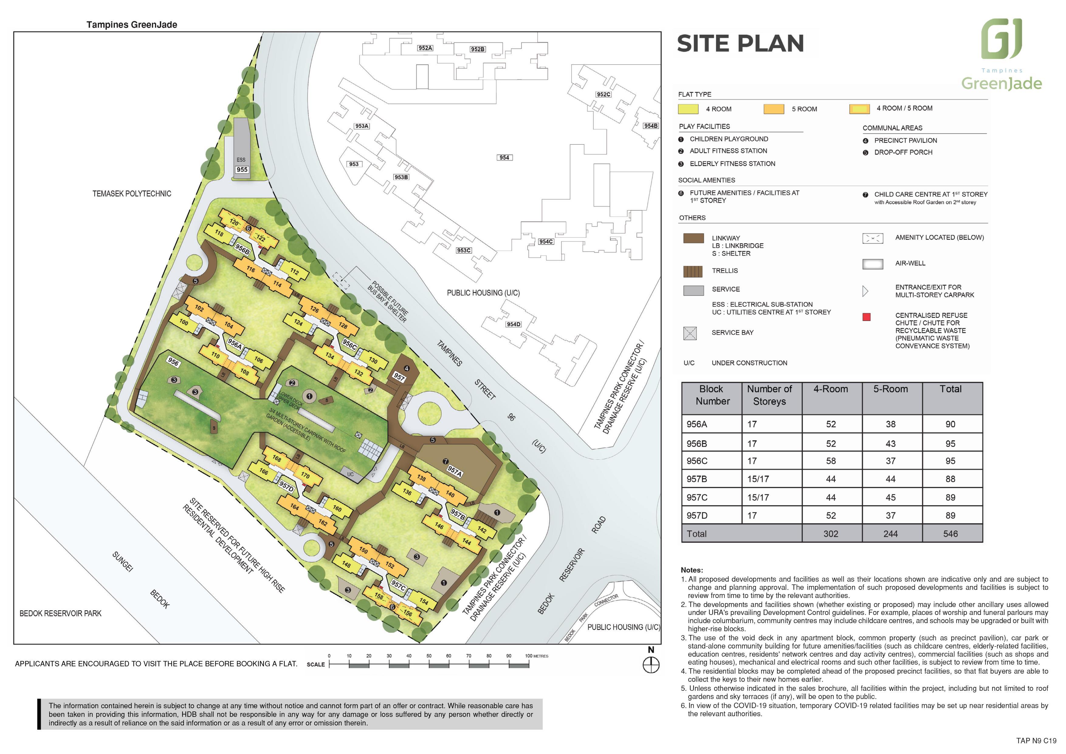Tampines GreenJade Site Plan