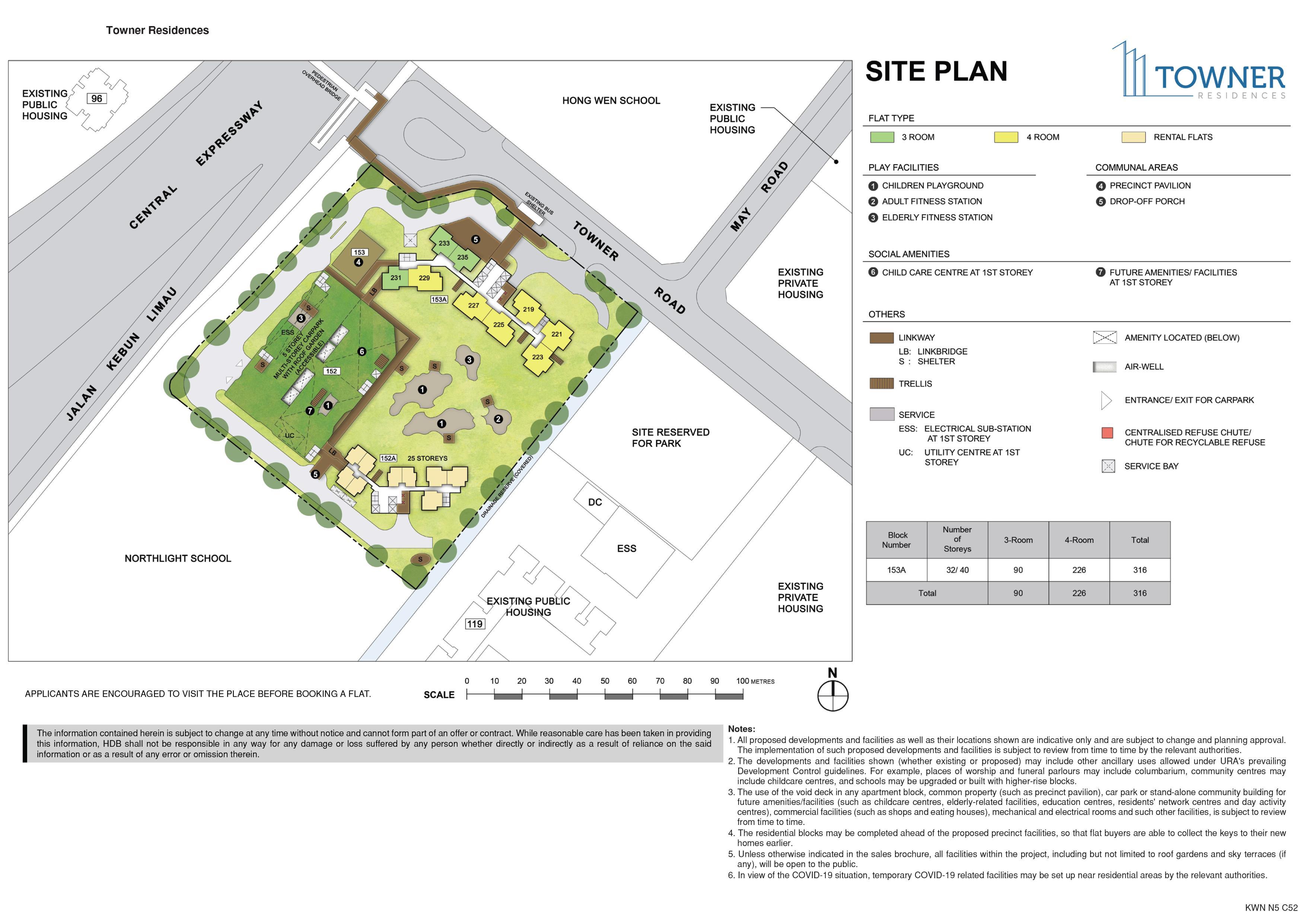 Towner Residences Site Plan