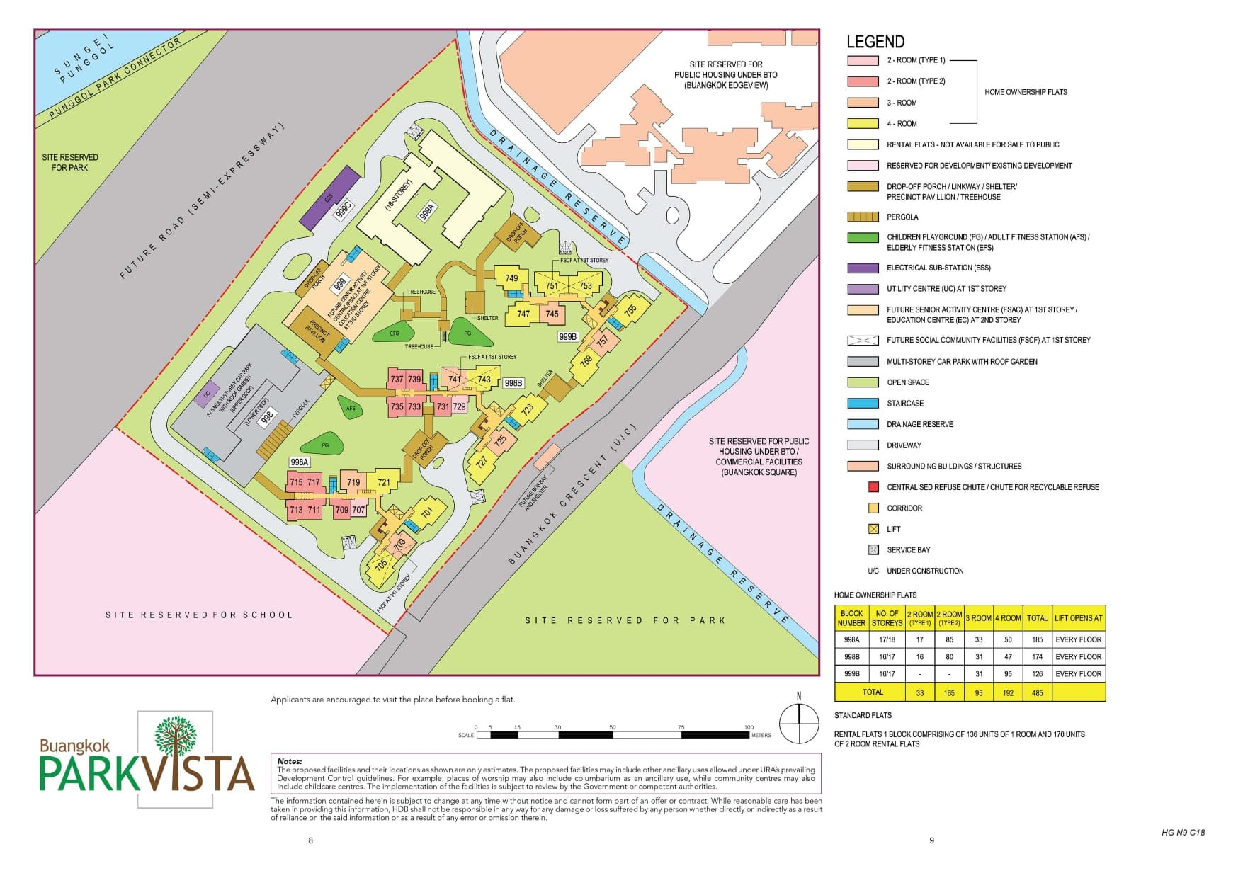 Buangkok ParkVista Site Plan
