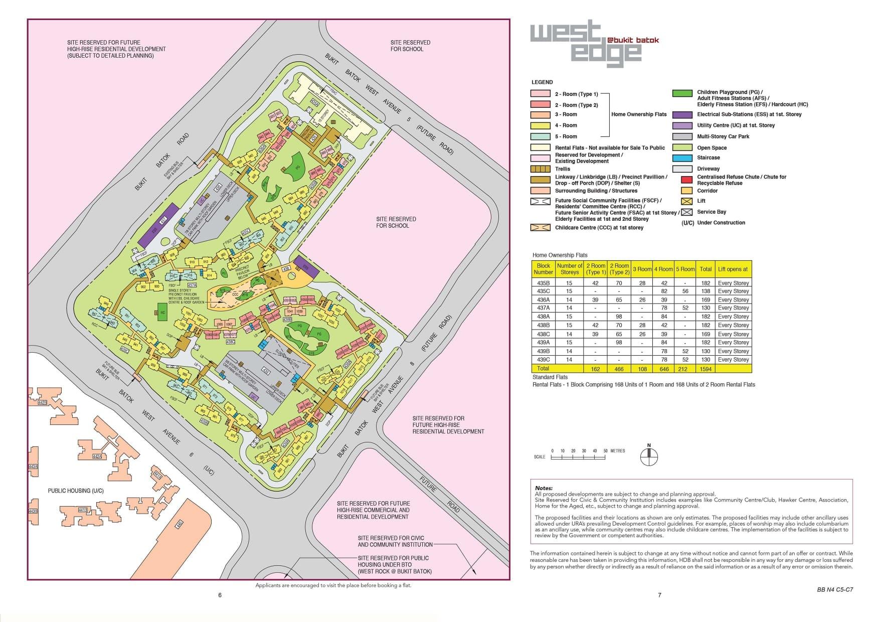 West Edge @ Bukit Batok Site Plan