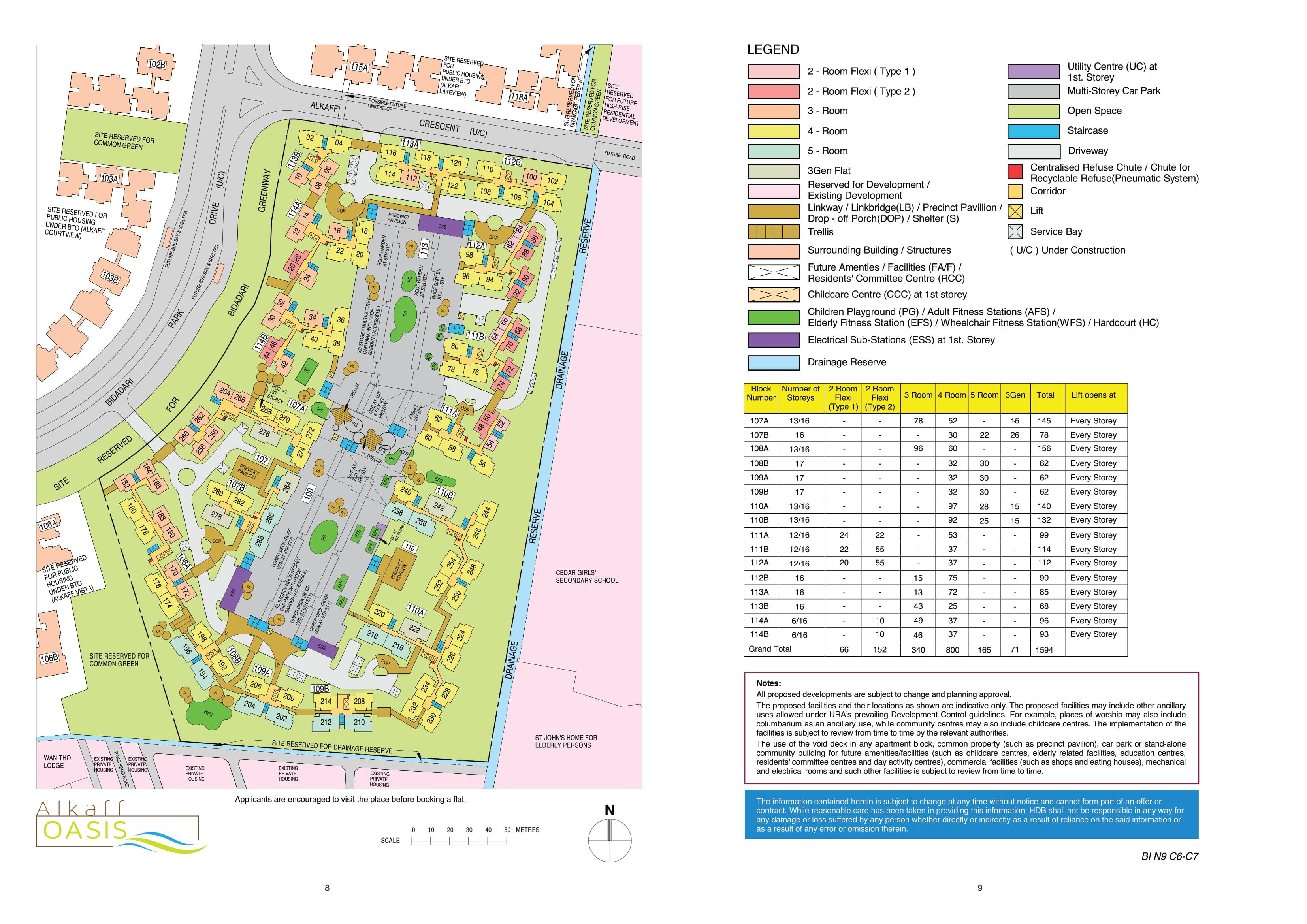 Bidadari Alkaff Oasis Site Plan