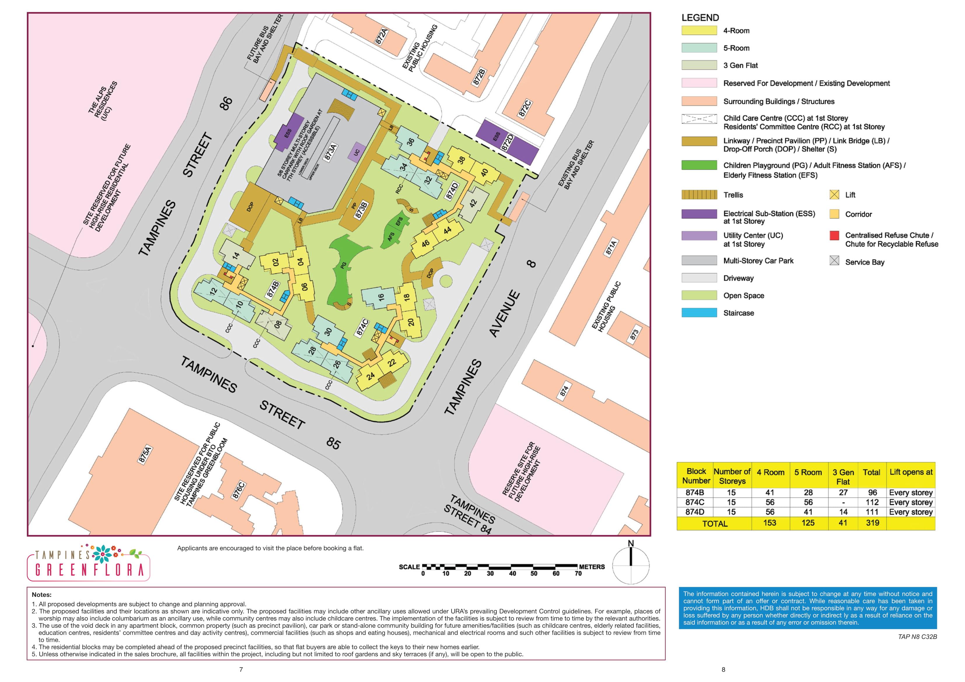 Tampines GreenFlora Site Plan