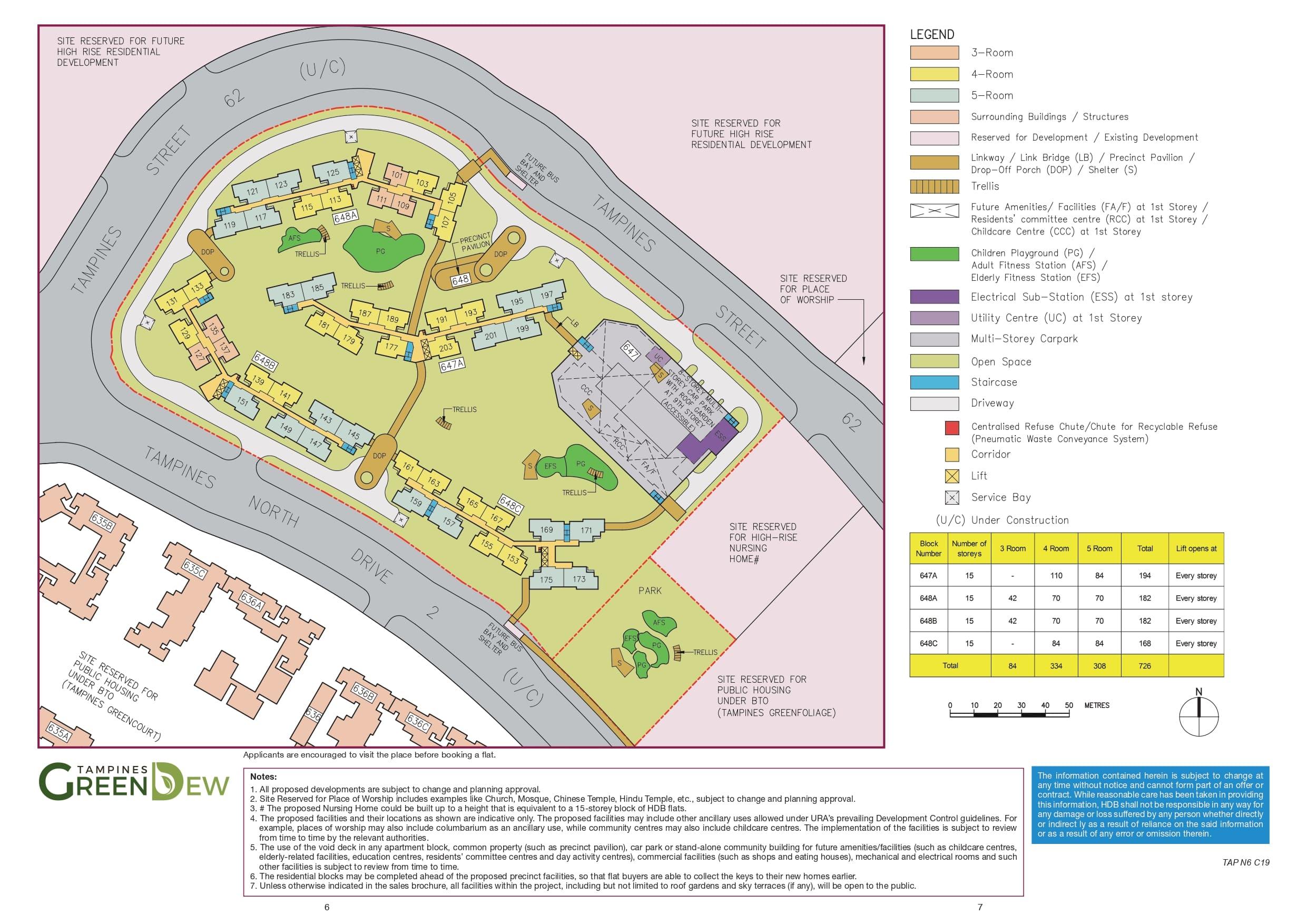 Tampines GreenDew Site Plan
