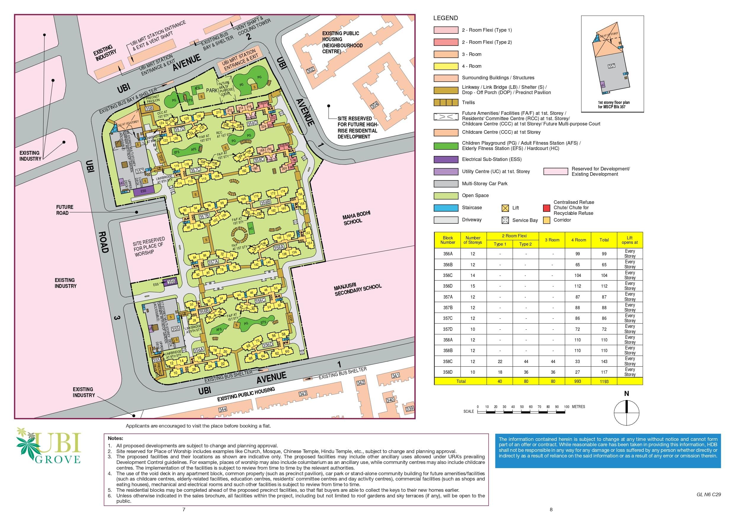 Ubi Grove Site Plan
