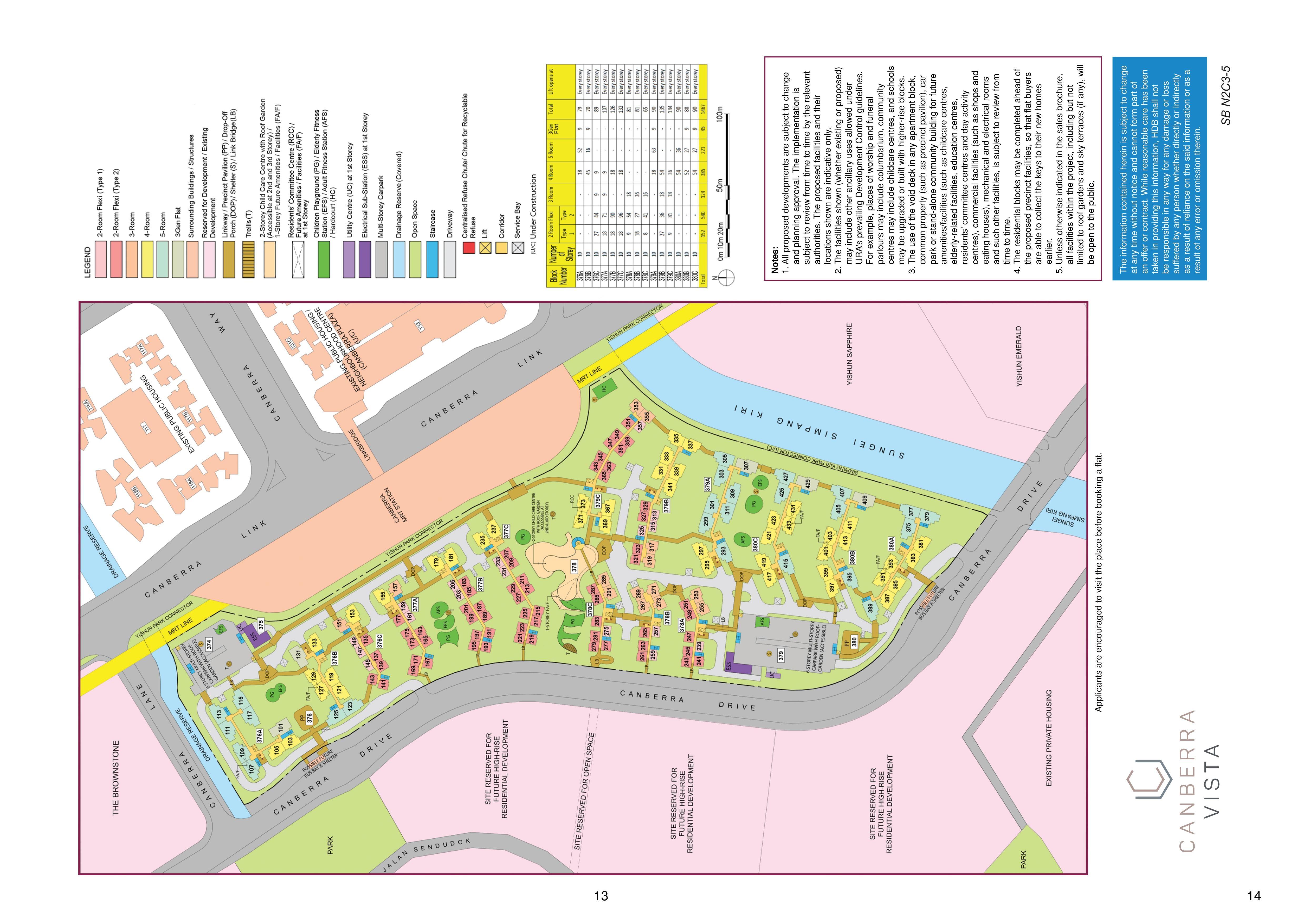 Canberra Vista Site Plan