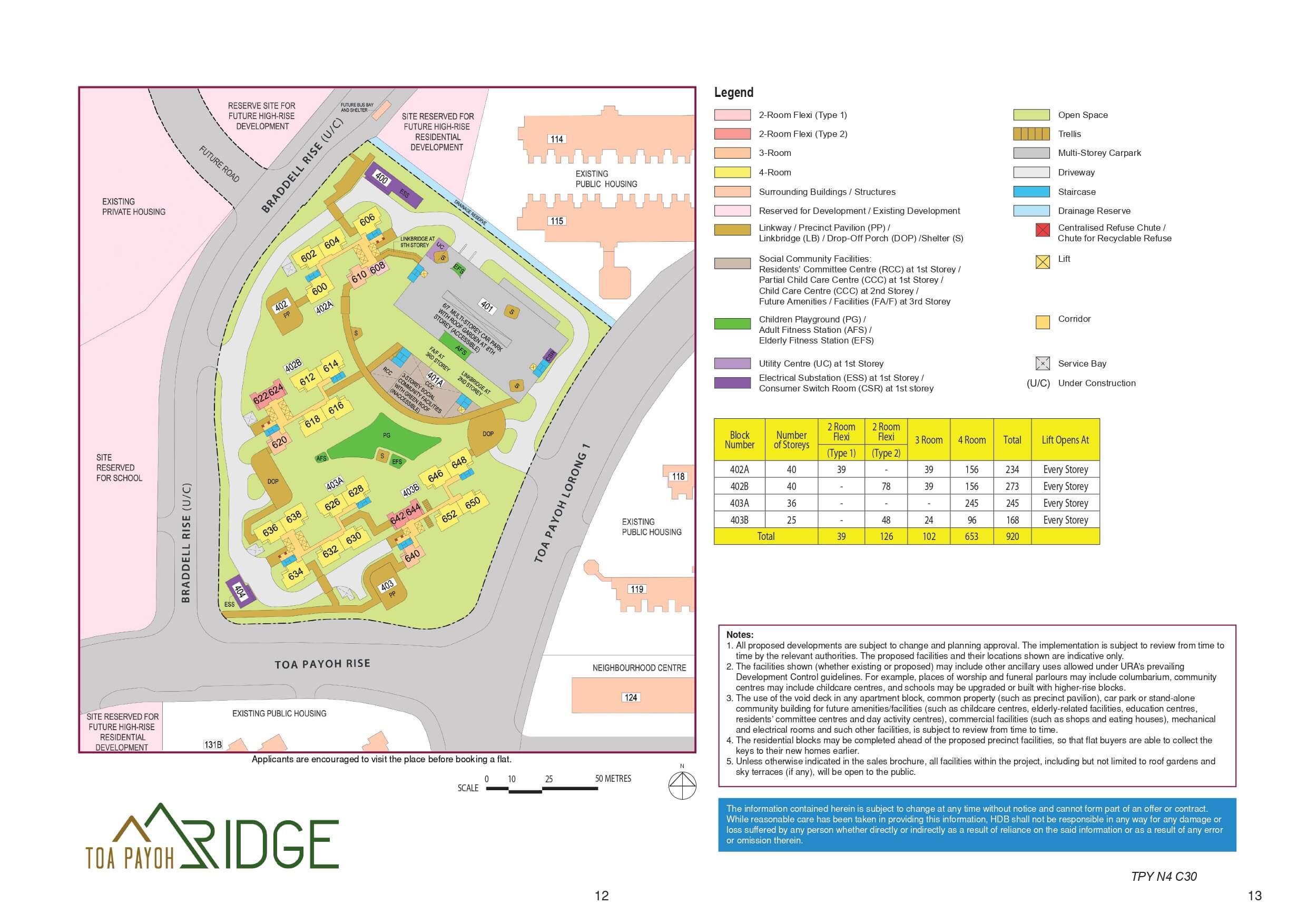 Toa Payoh Ridge Site Plan