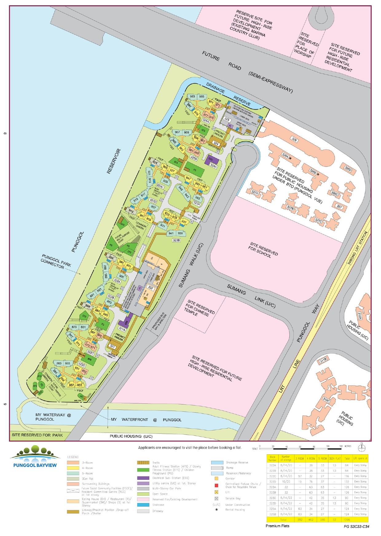 Punggol Bayview Site Plan