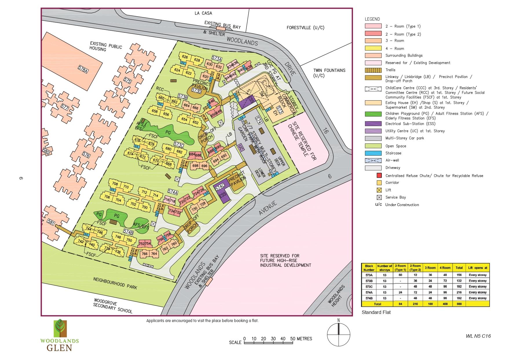 Woodlands Glen Site Plan