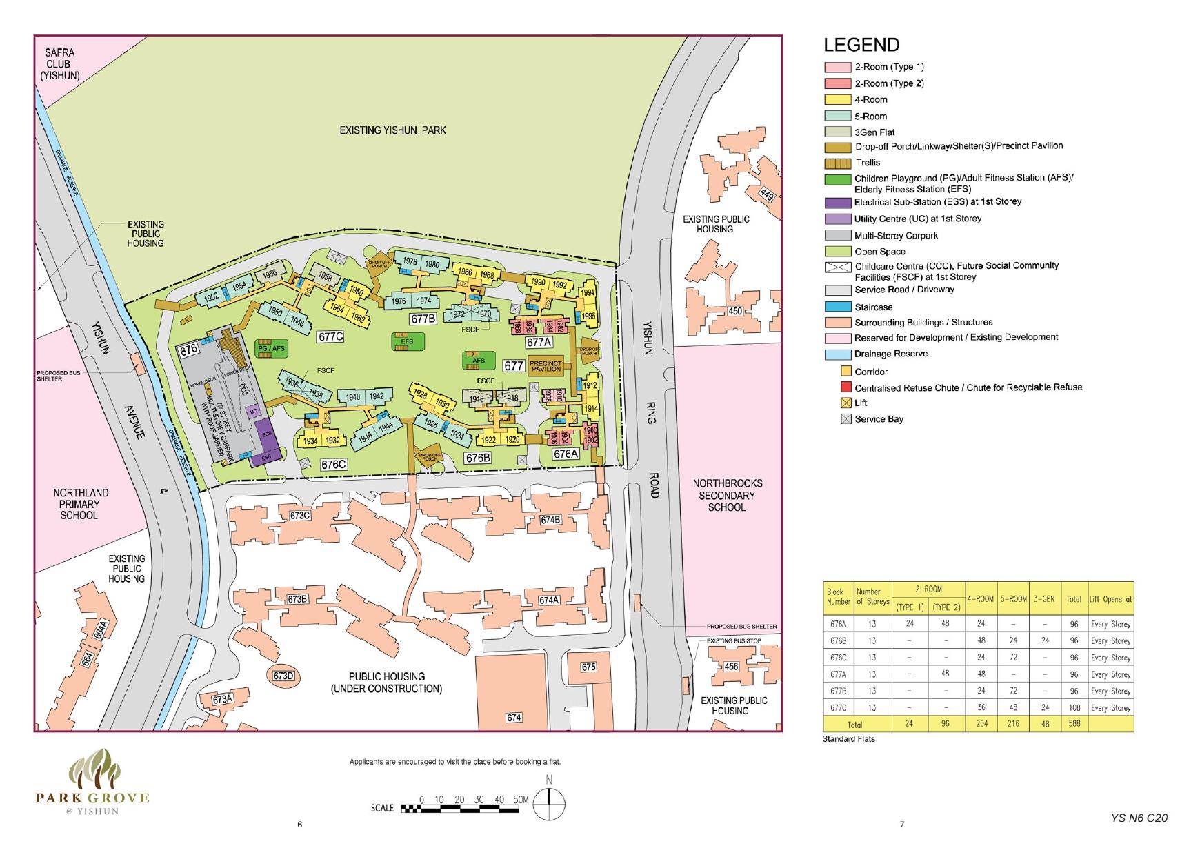 Park Grove @ Yishun Site Plan