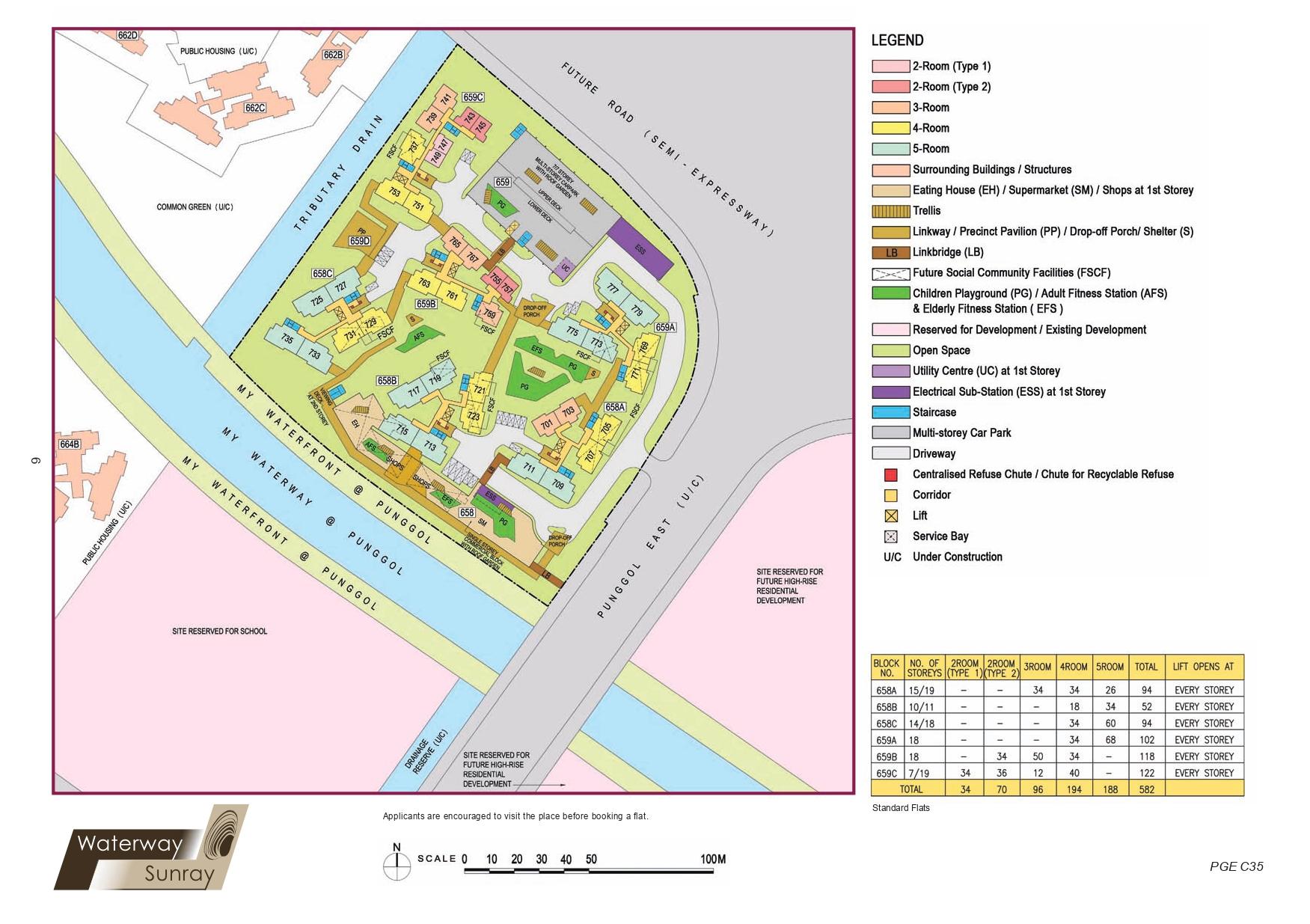 Waterway Sunray Site Plan