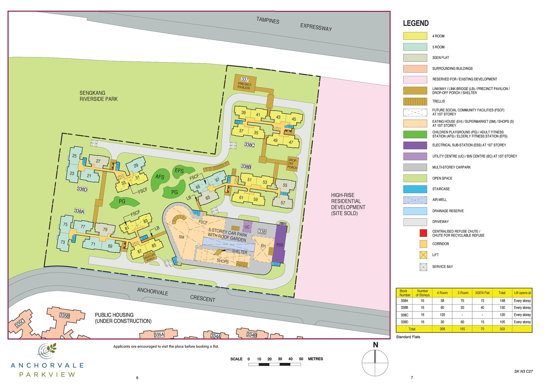 Anchorvale Parkview Site Plan