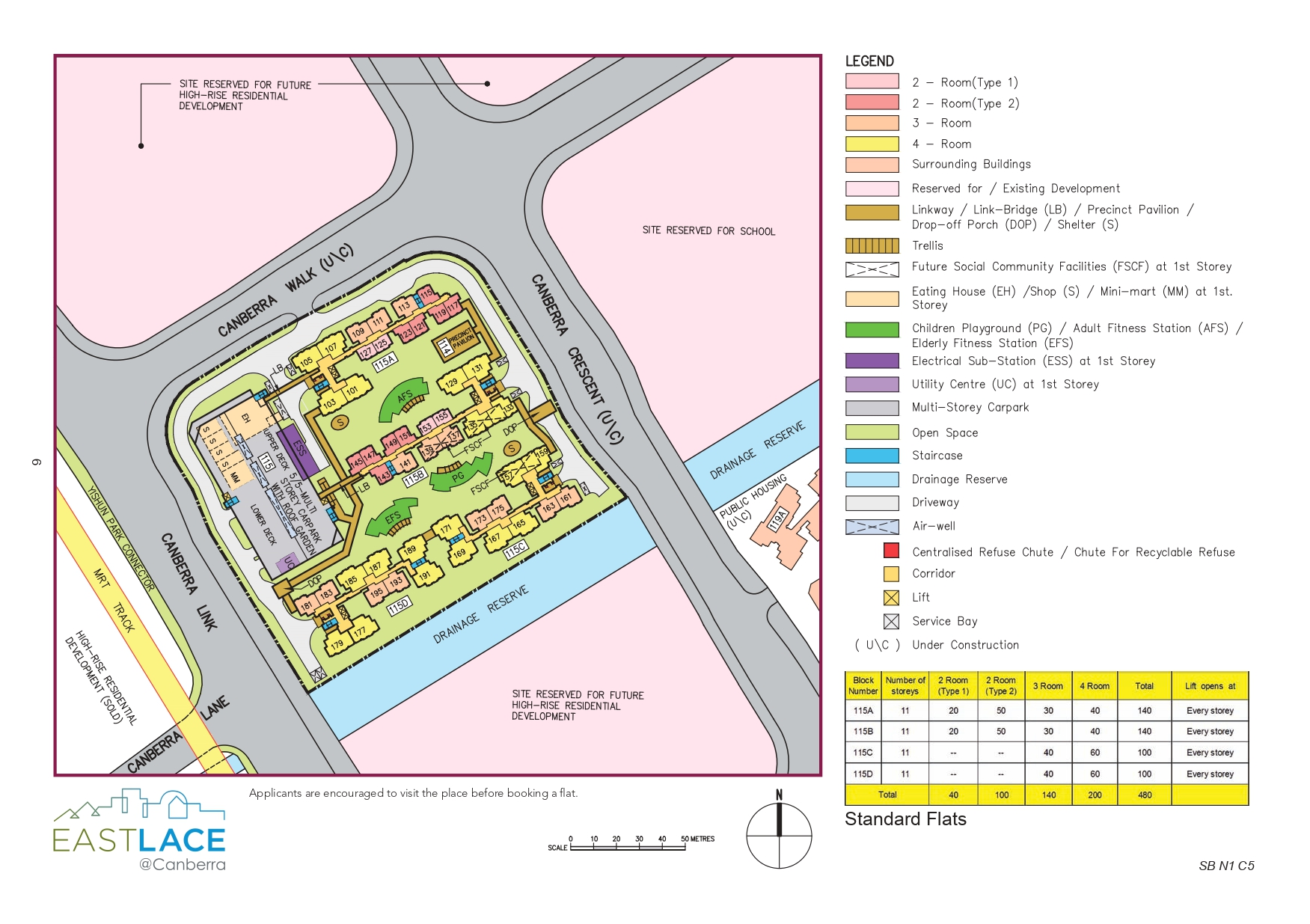 EastLace @ Canberra Site Plan