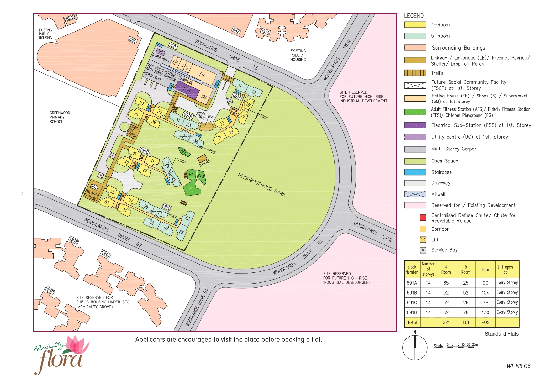 Admiralty Flora Site Plan