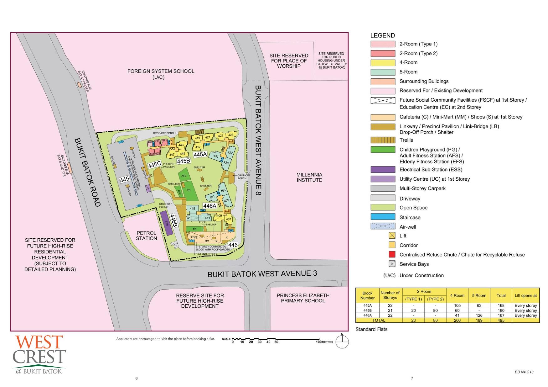 West Crest @ Bukit Batok Site Plan