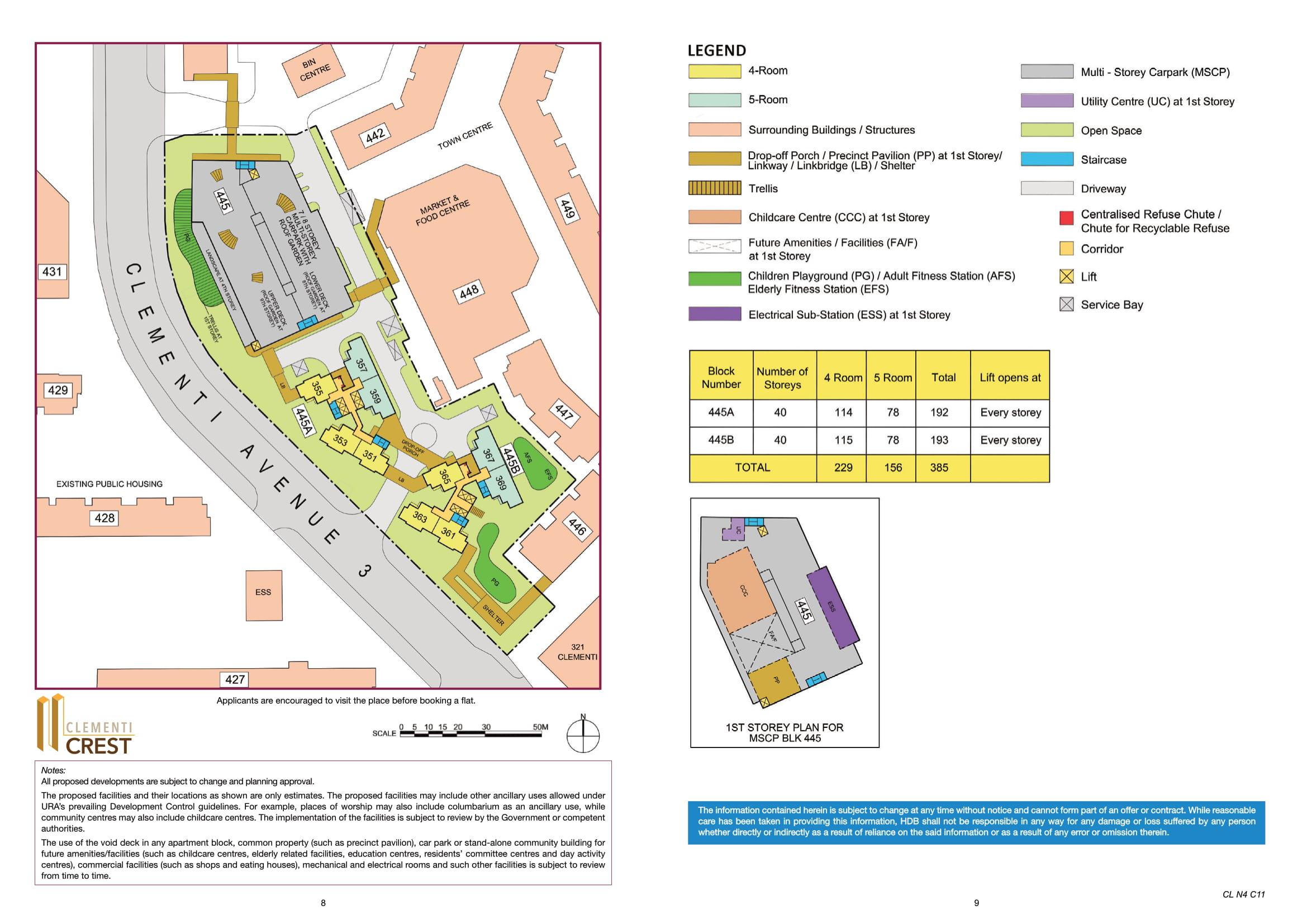 Clementi Crest Site Plan