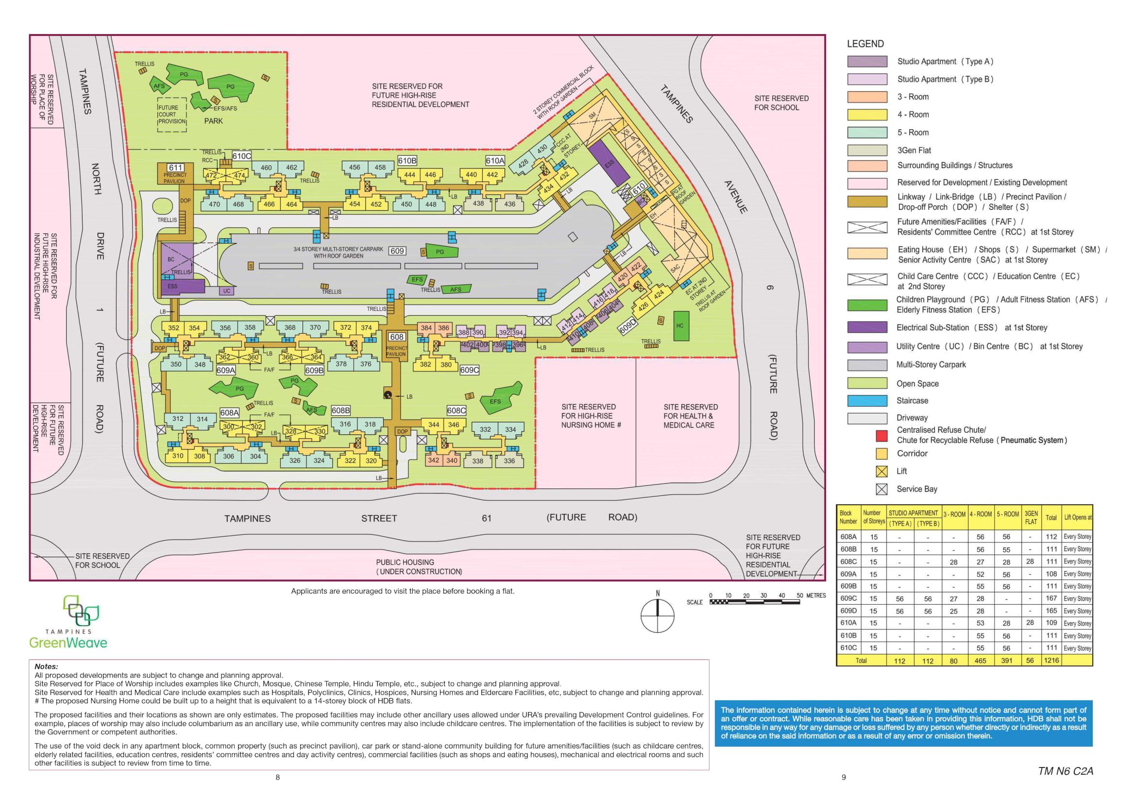 Tampines Greenweave Site Plan
