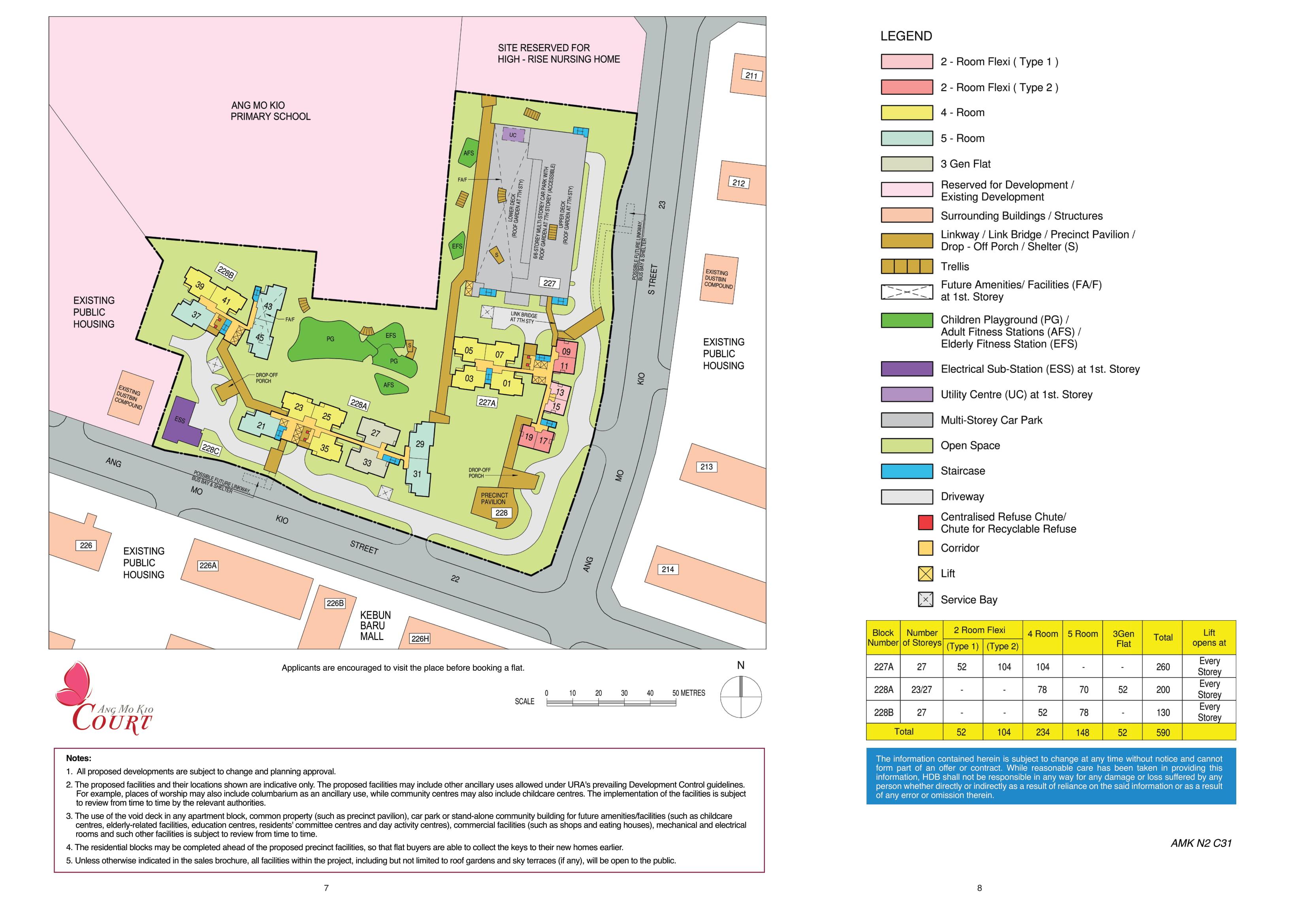 Ang Mo Kio Court Site Plan