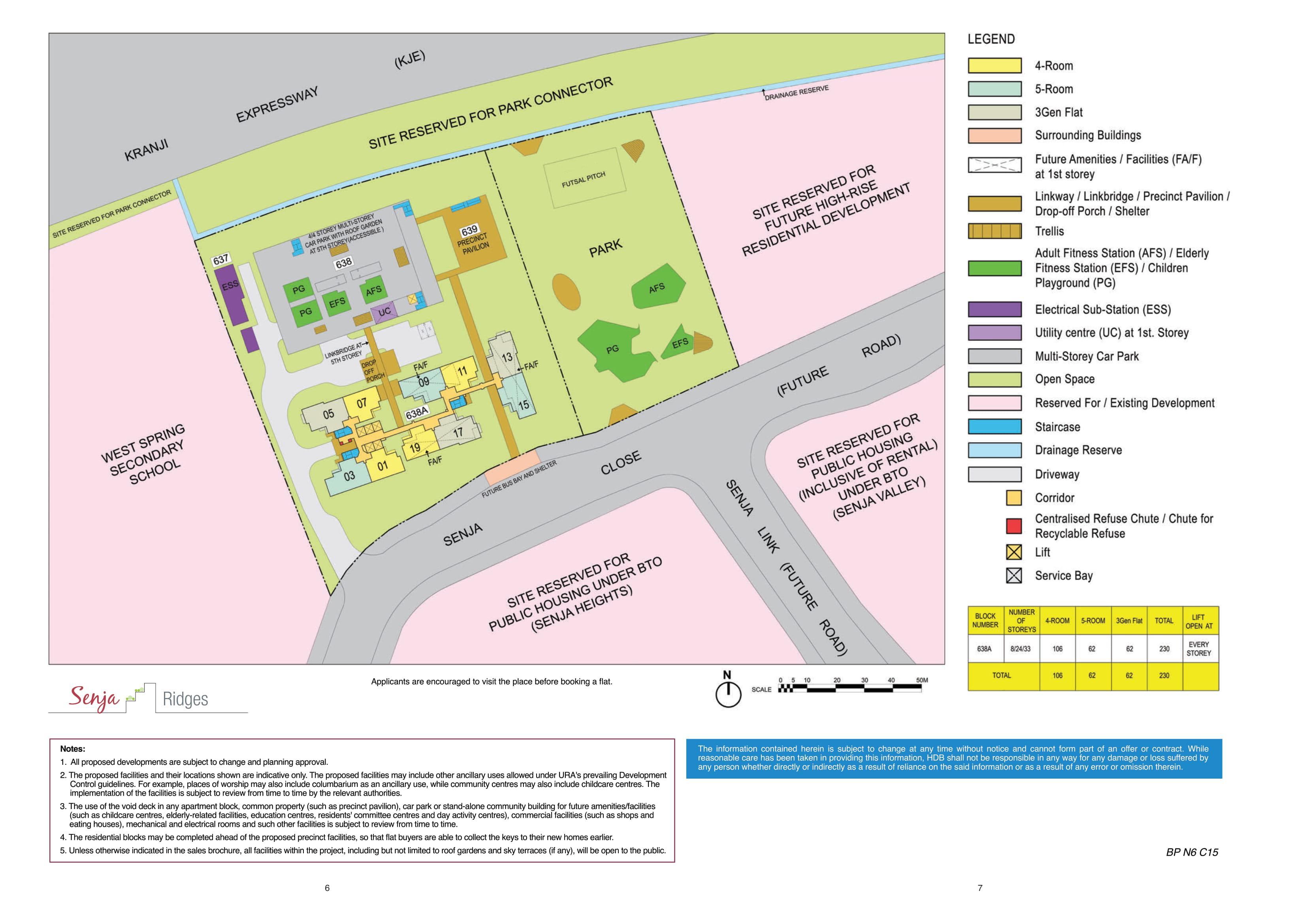 Senja Ridges Site Plan
