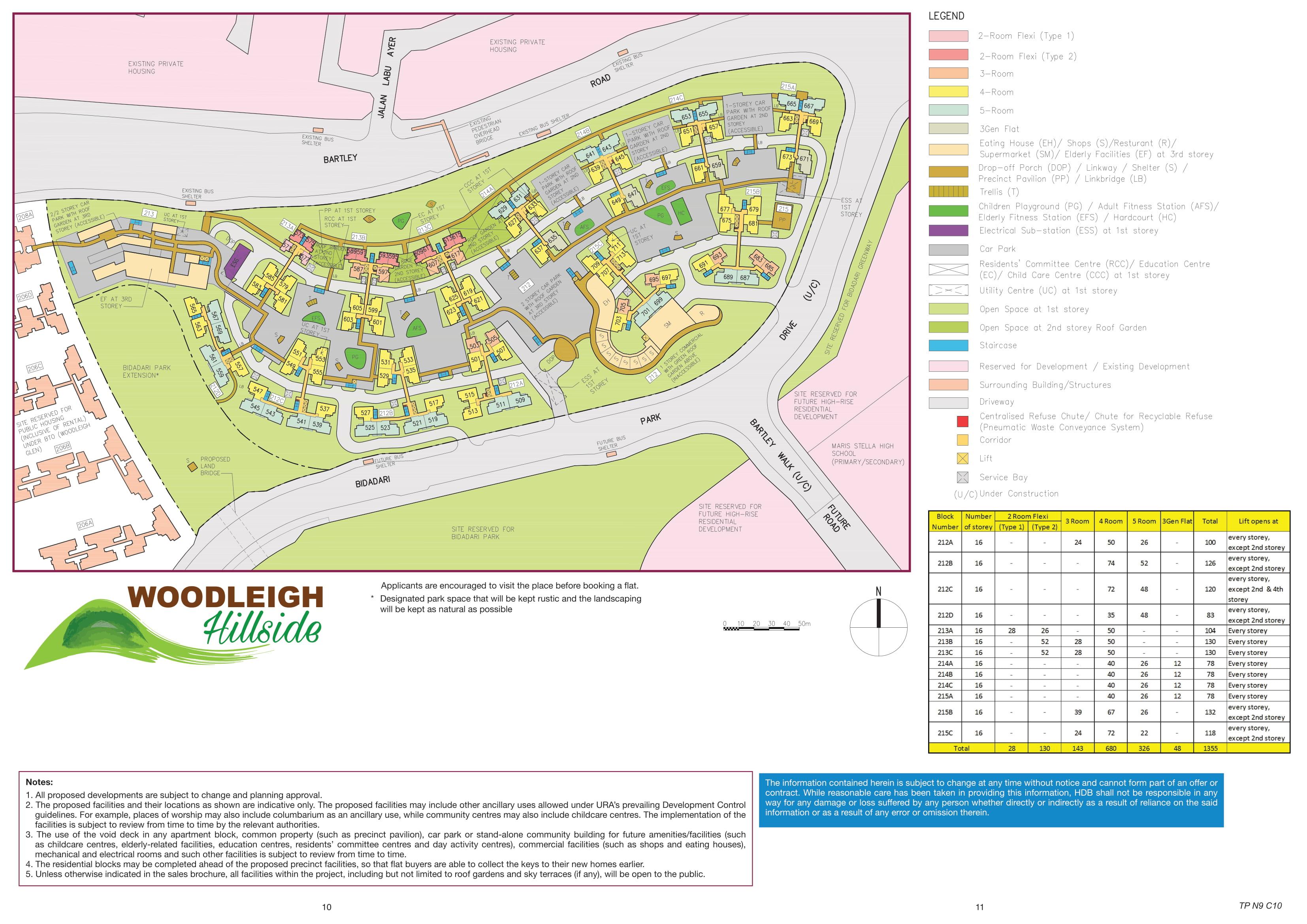 Woodleigh Hillside Site Plan