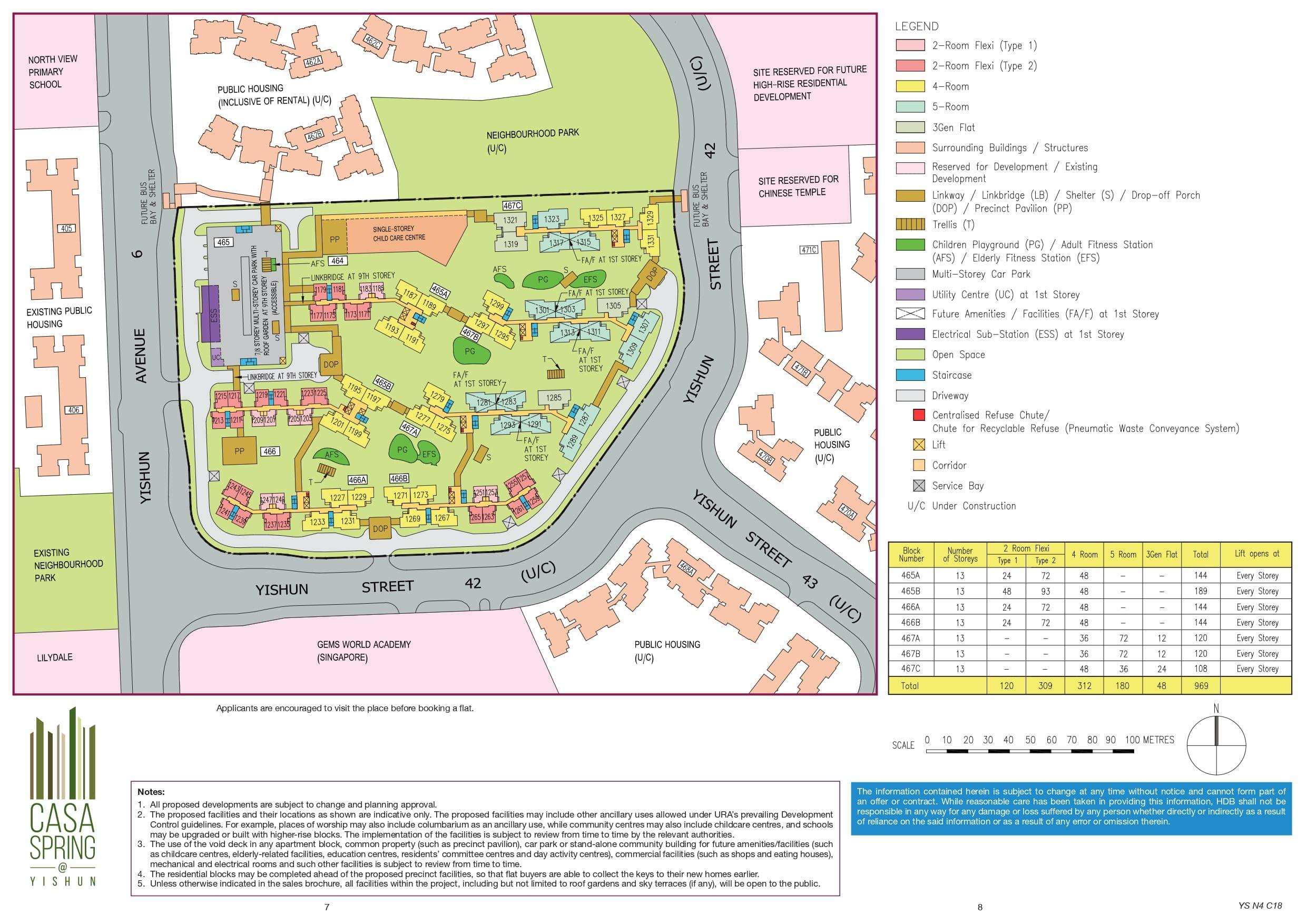 Casa Spring @ Yishun Site Plan