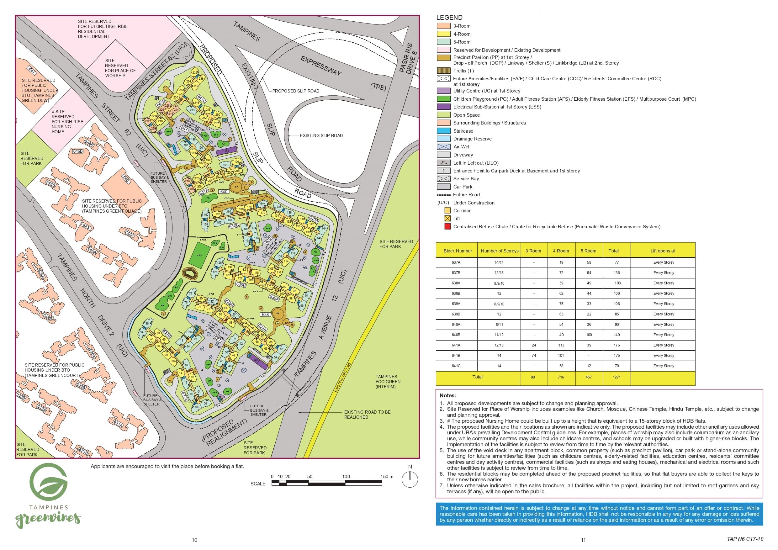 Tampines GreenVines Site Plan
