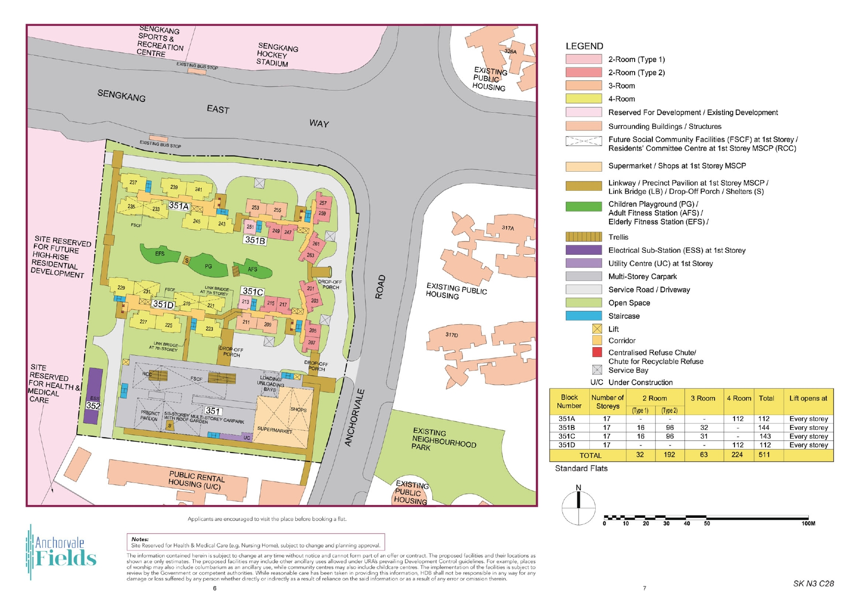 Anchorvale Fields Site Plan