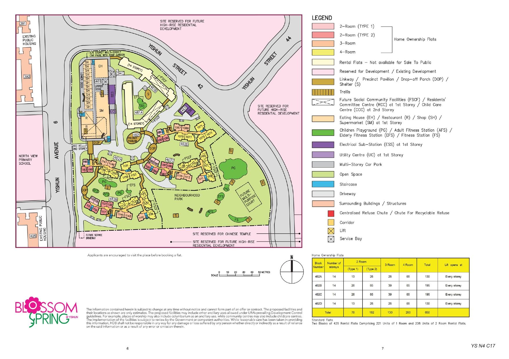 Blossom Spring @ Yishun Site Plan