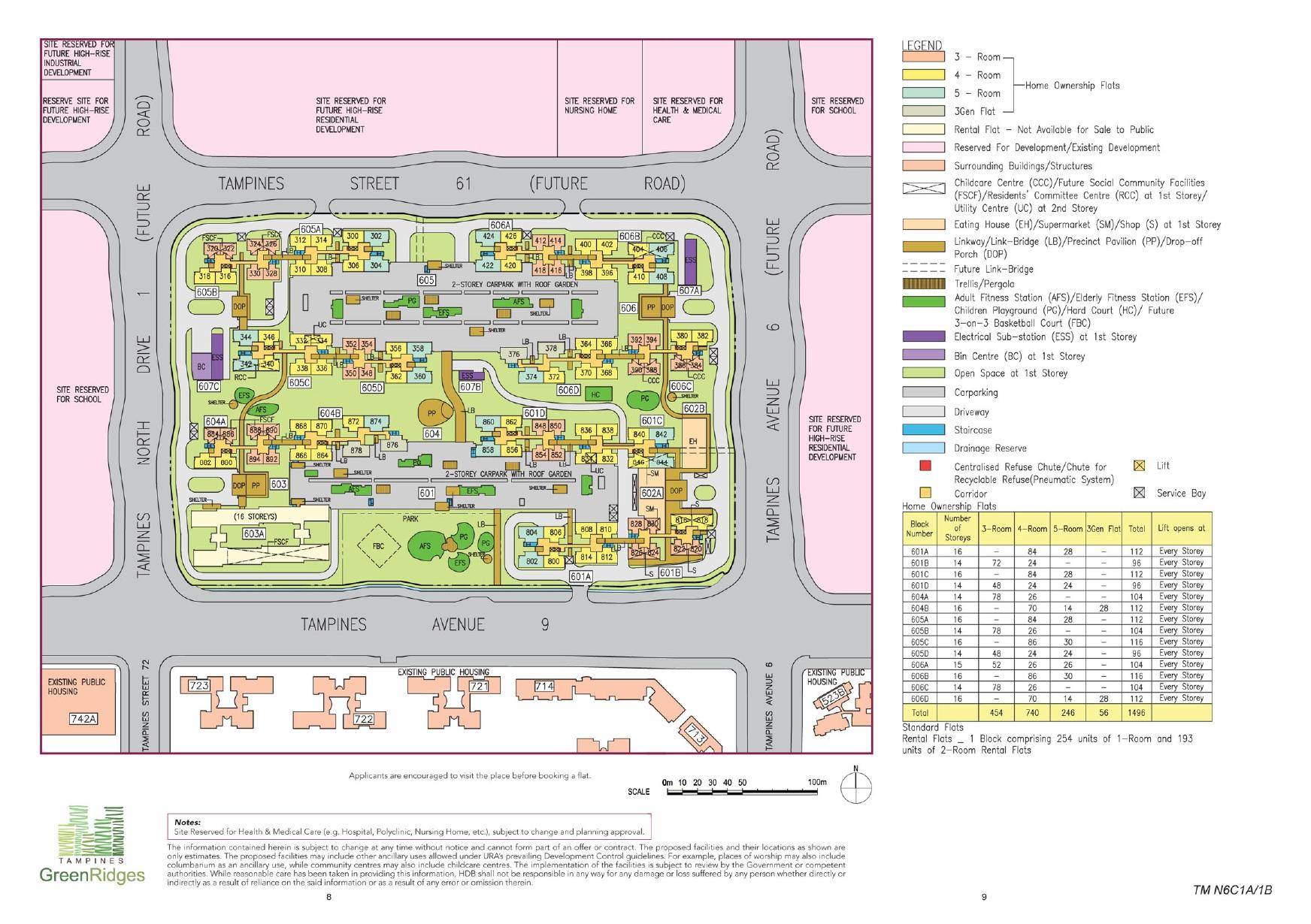 Tampines GreenRidges Site Plan