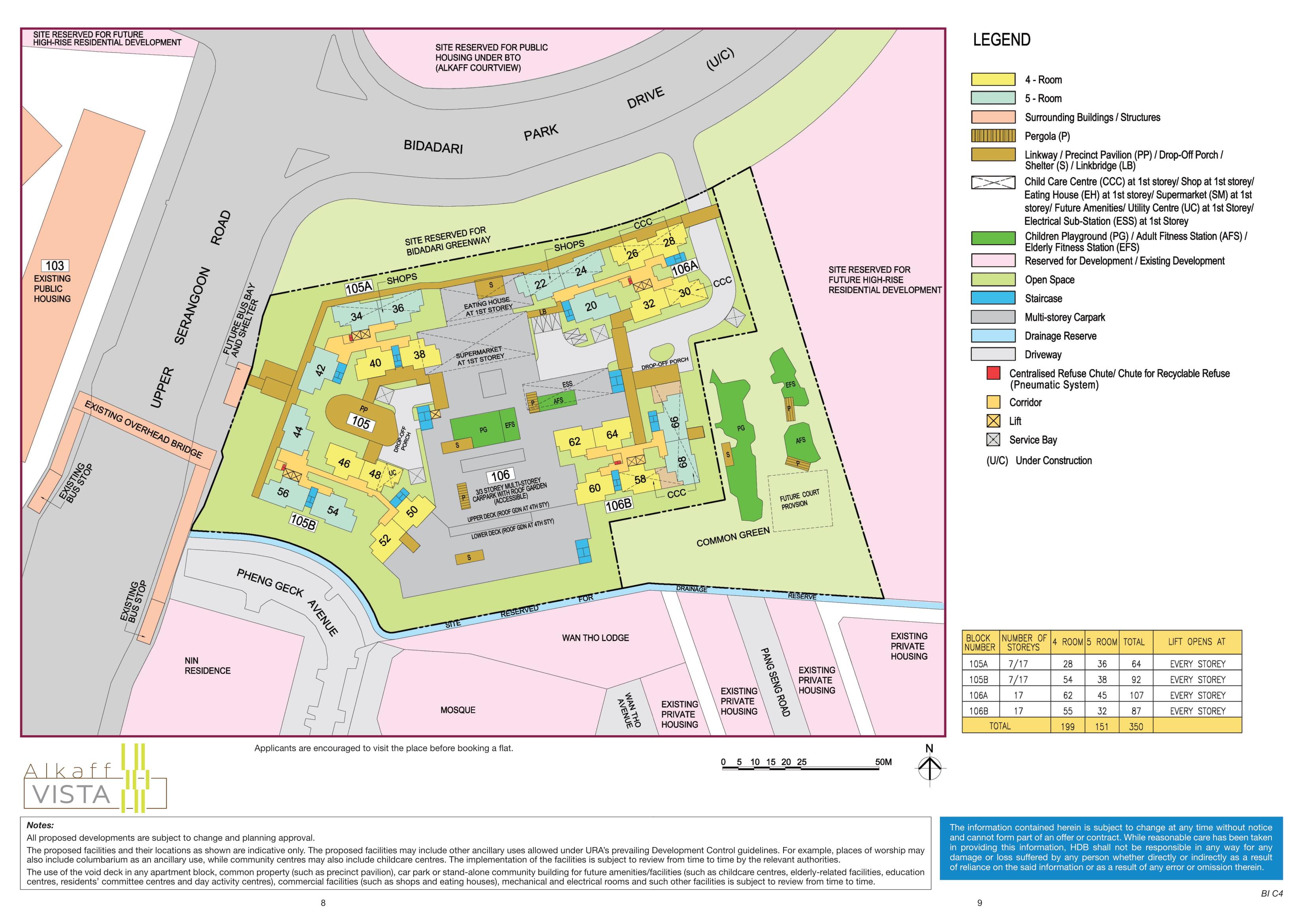 Bidadari Alkaff Vista Site Plan