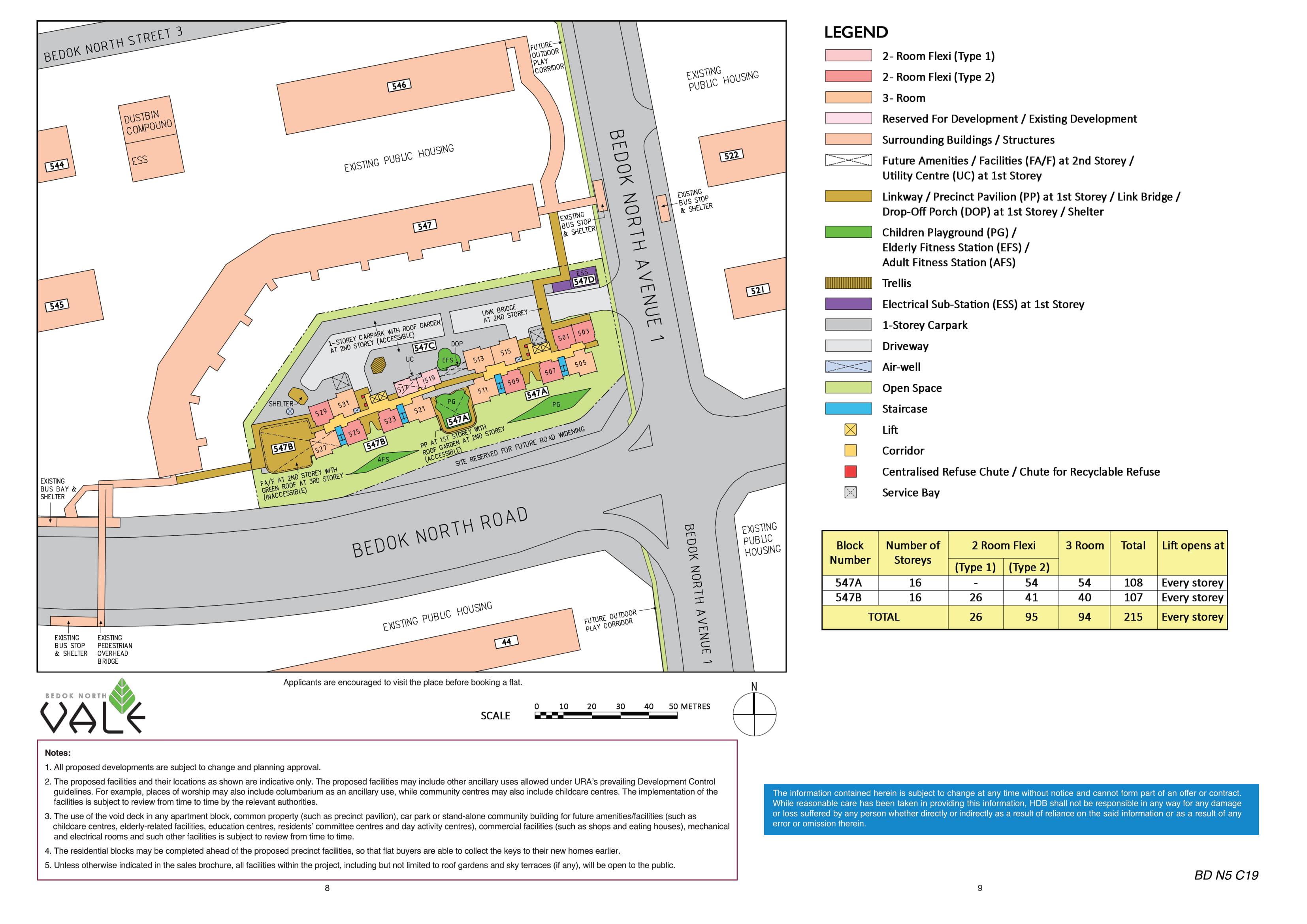 Bedok North Vale Site Plan