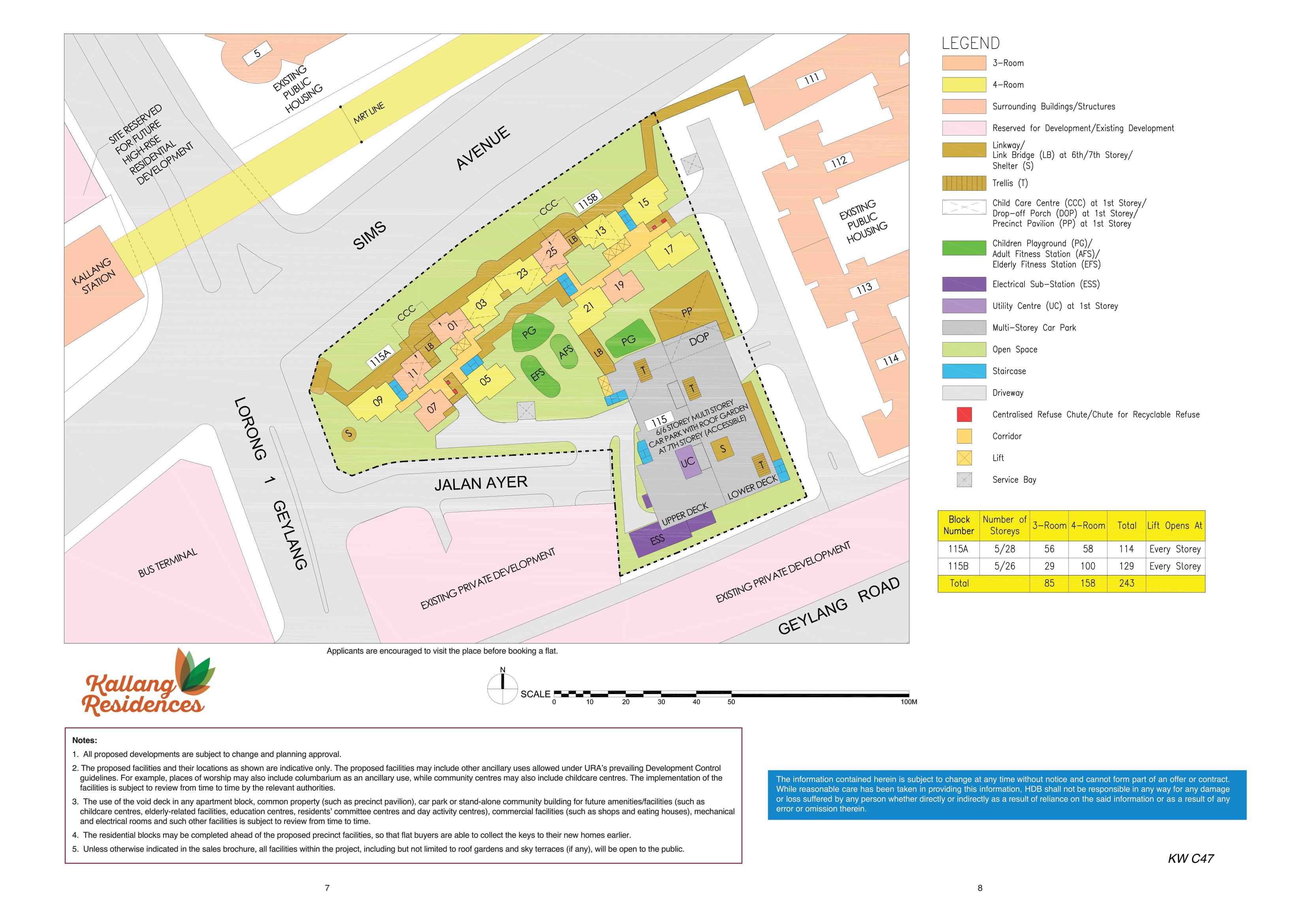 Kallang Residences Site Plan