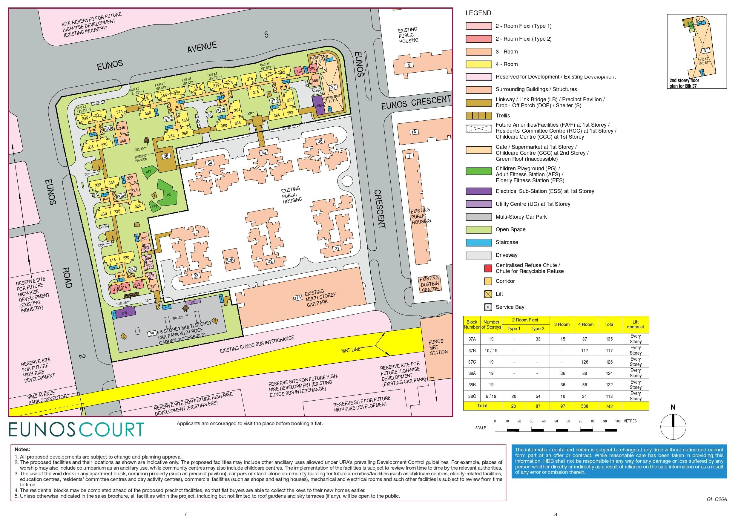 Eunos Court Site Plan