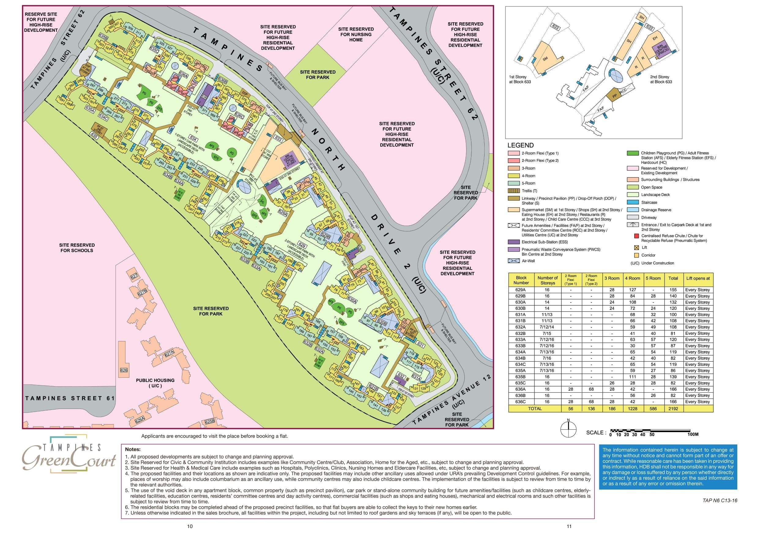 Tampines GreenCourt Site Plan