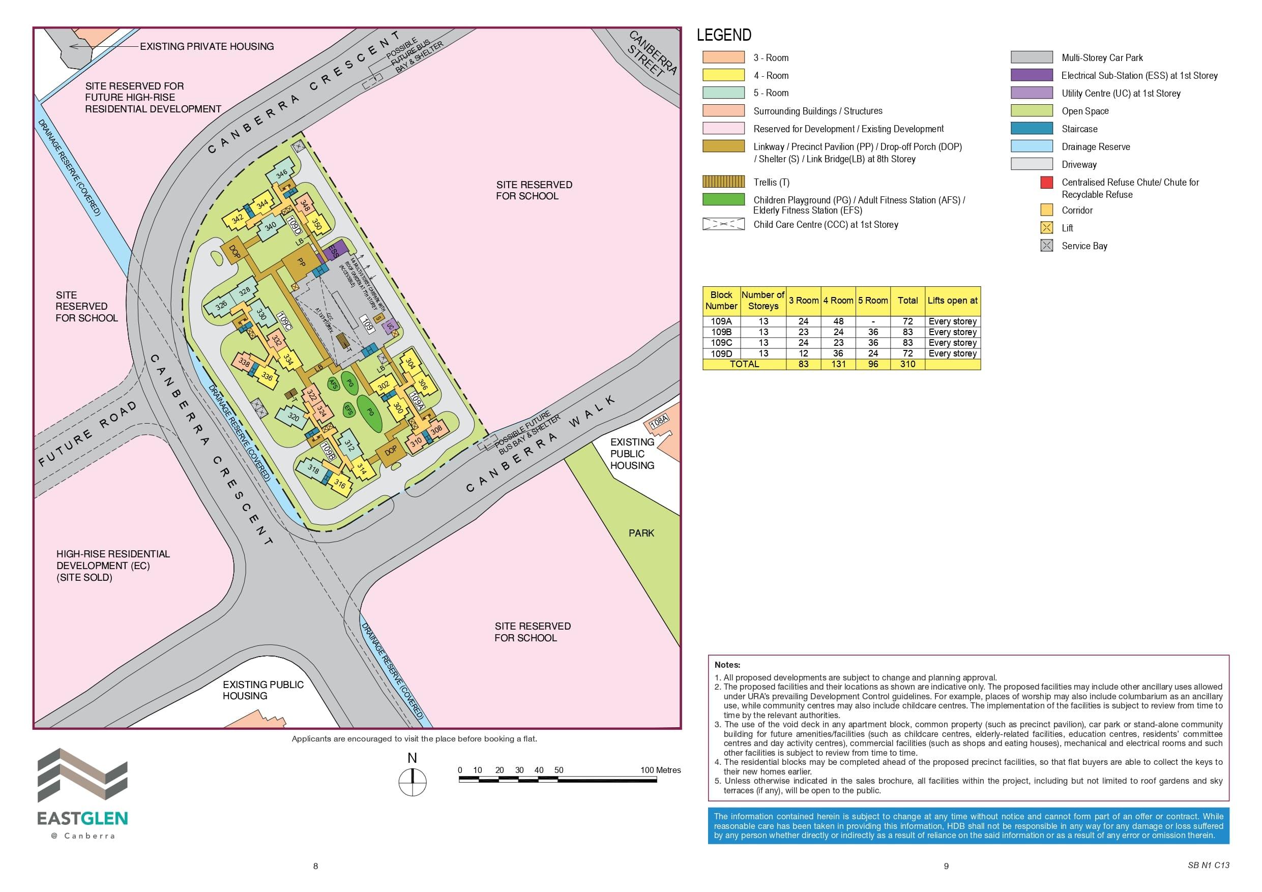 EastGlen @ Canberra Site Plan