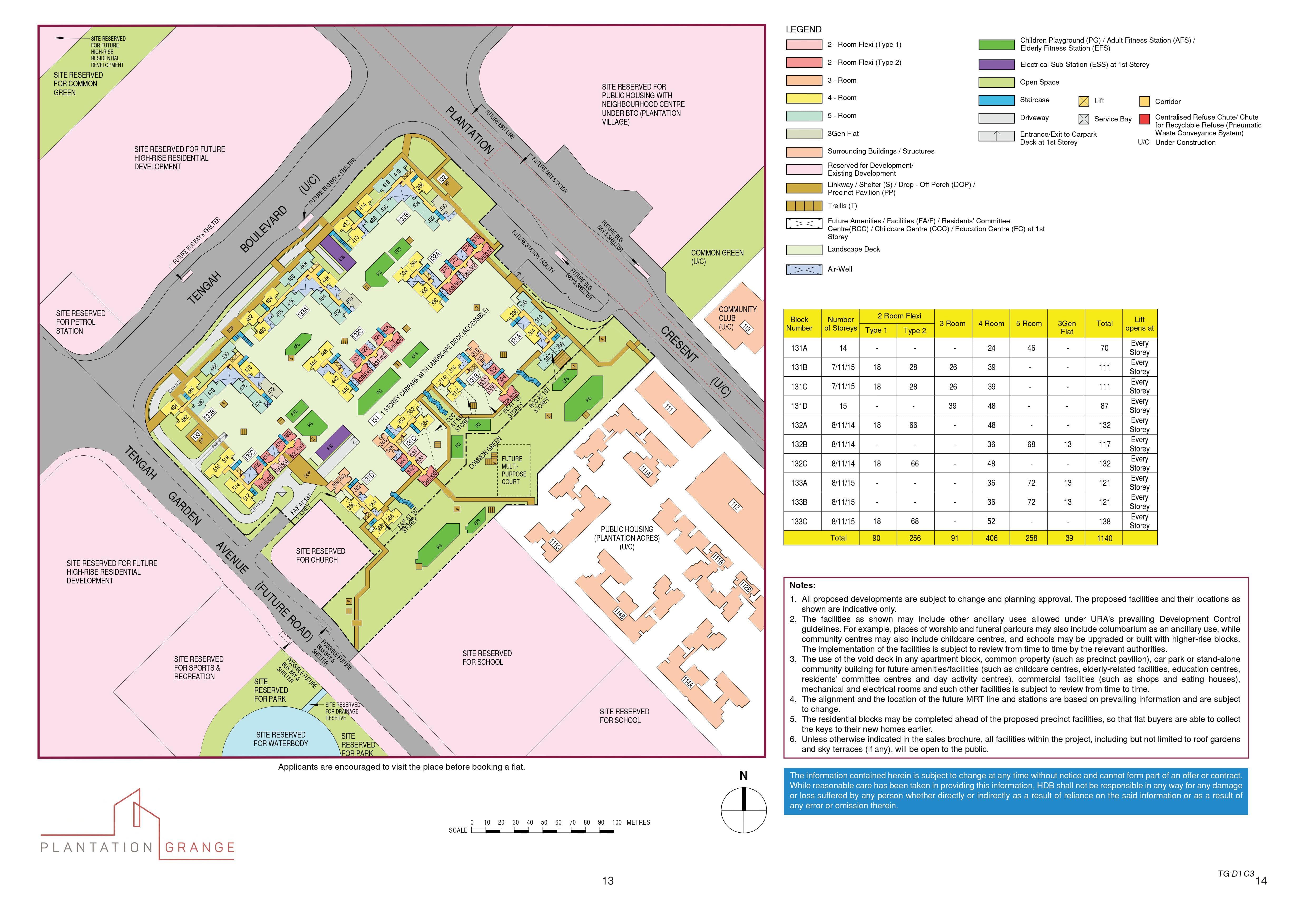 Plantation Grange Site Plan