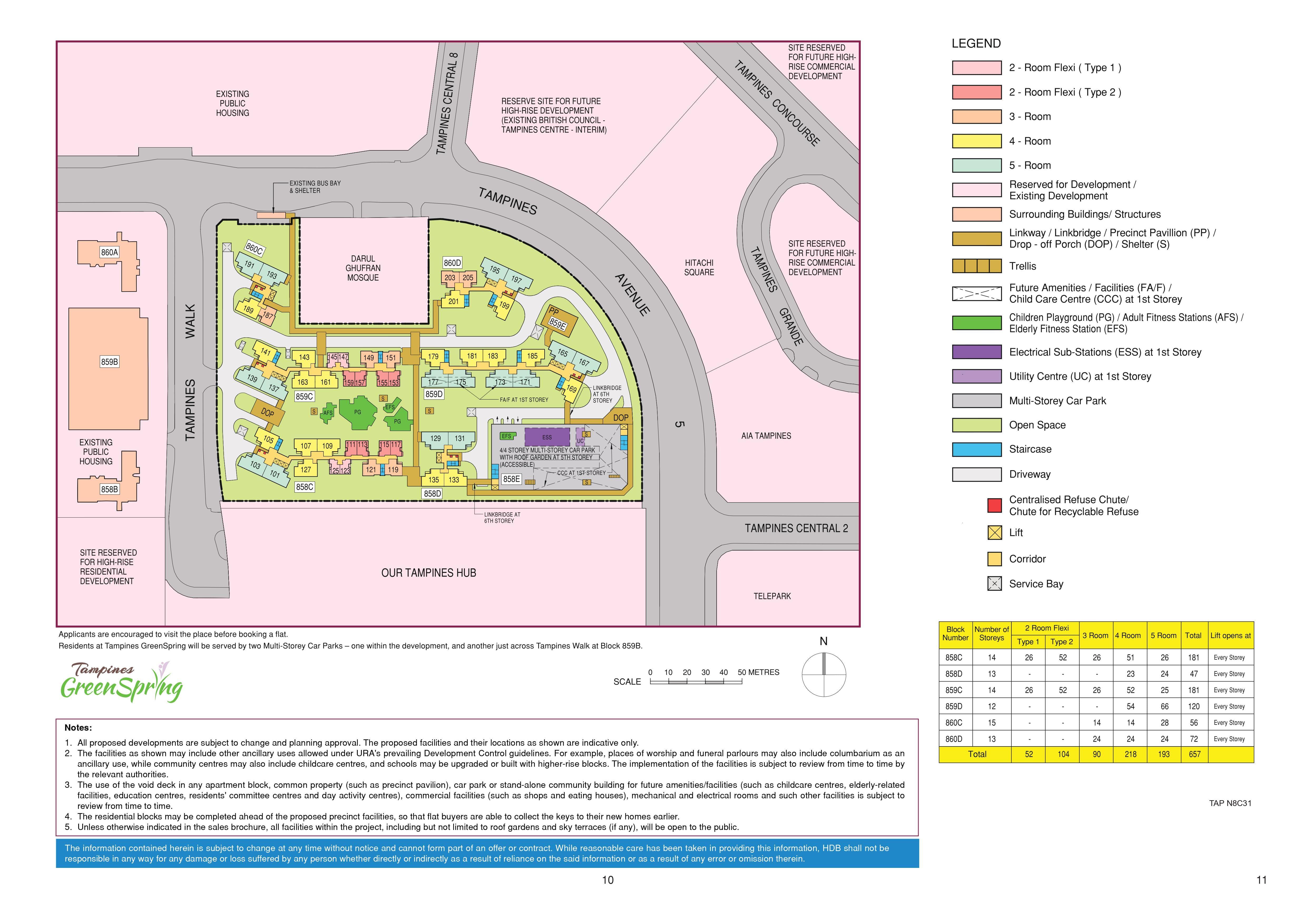Tampines GreenSpring Site Plan