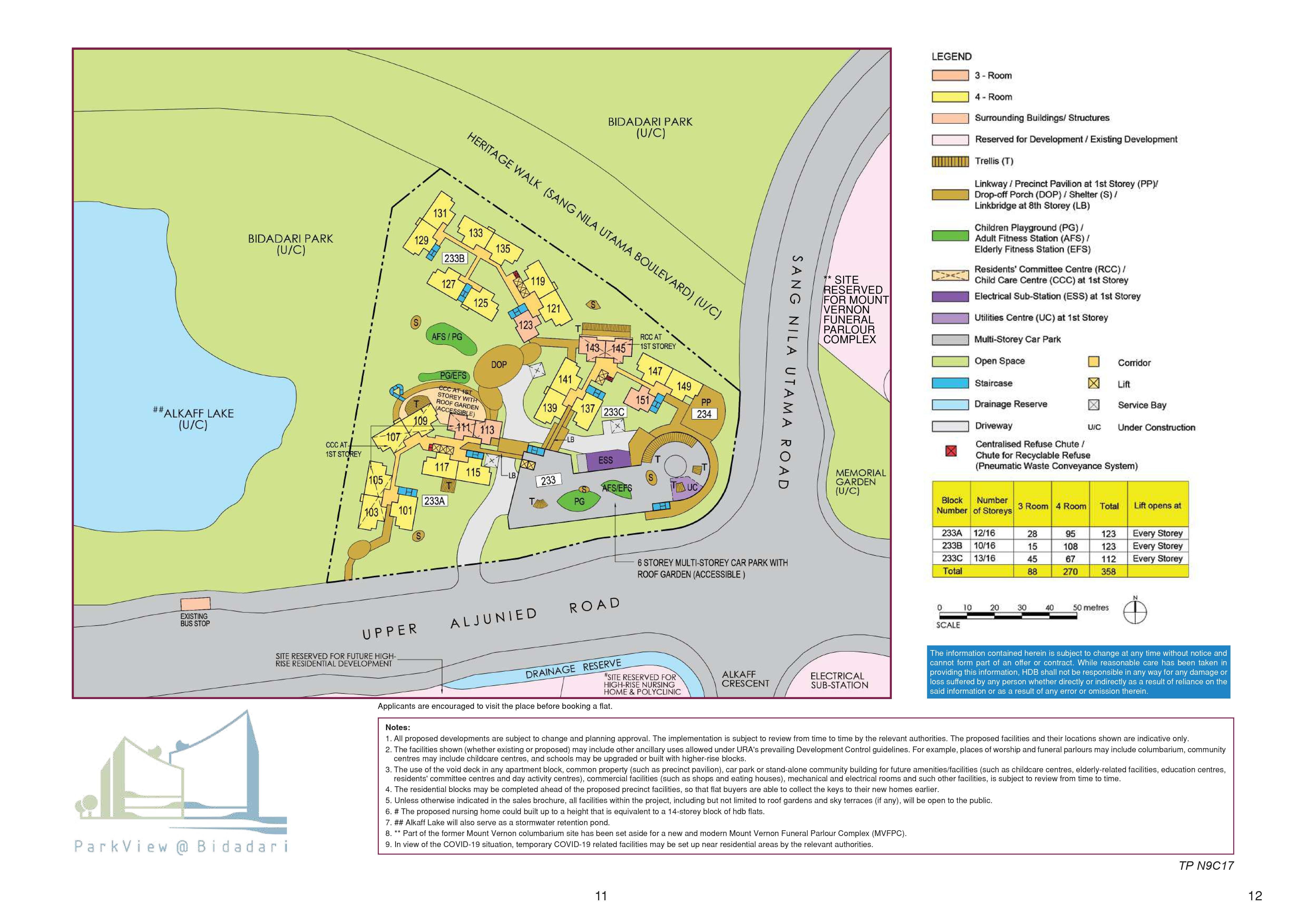 ParkView @ Bidadari Site Plan