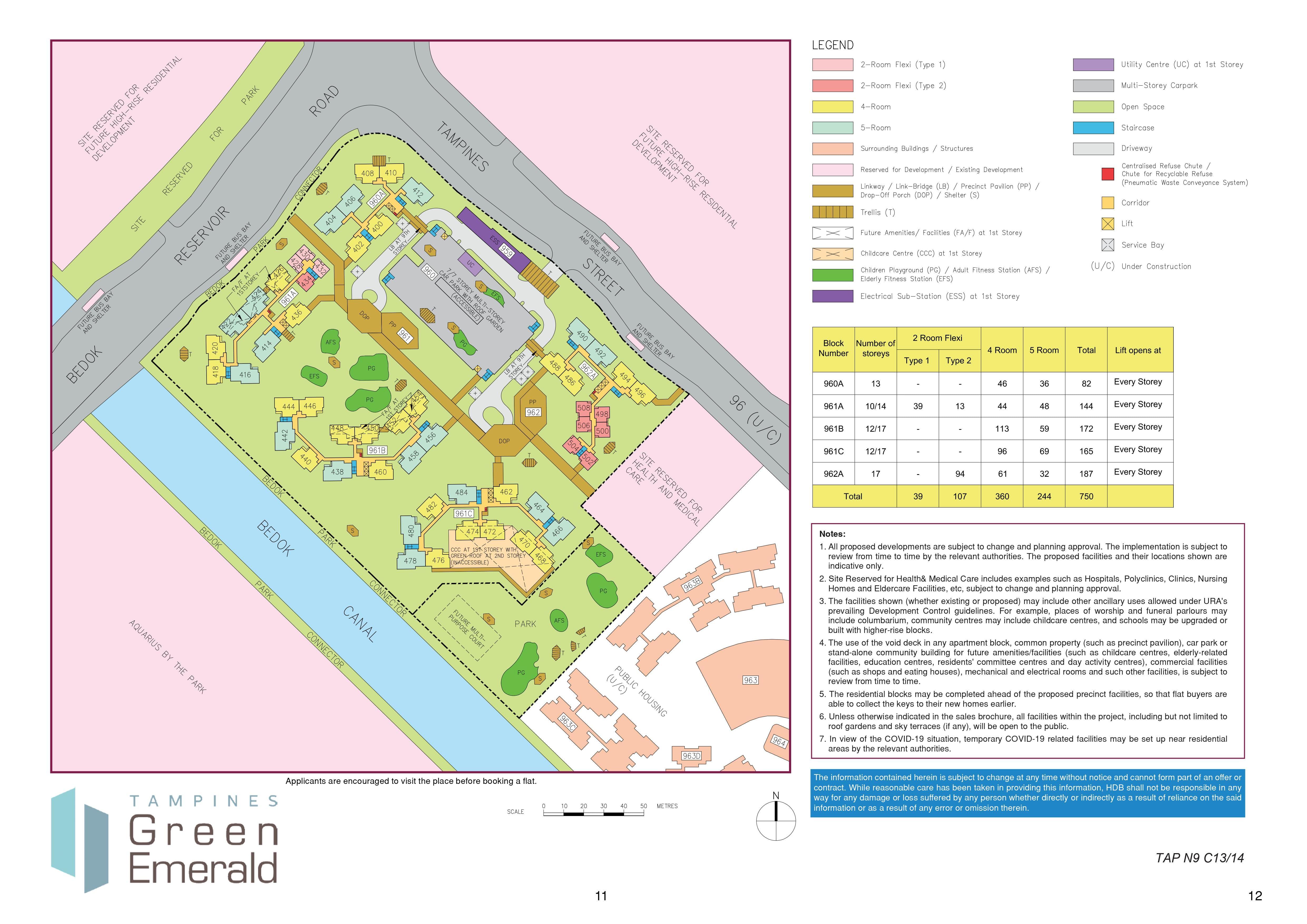 Tampines GreenEmerald Site Plan