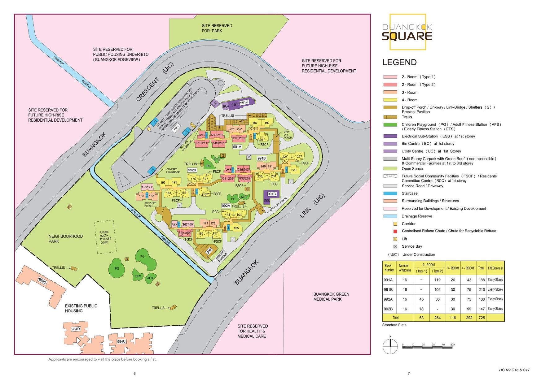 Buangkok Square Site Plan