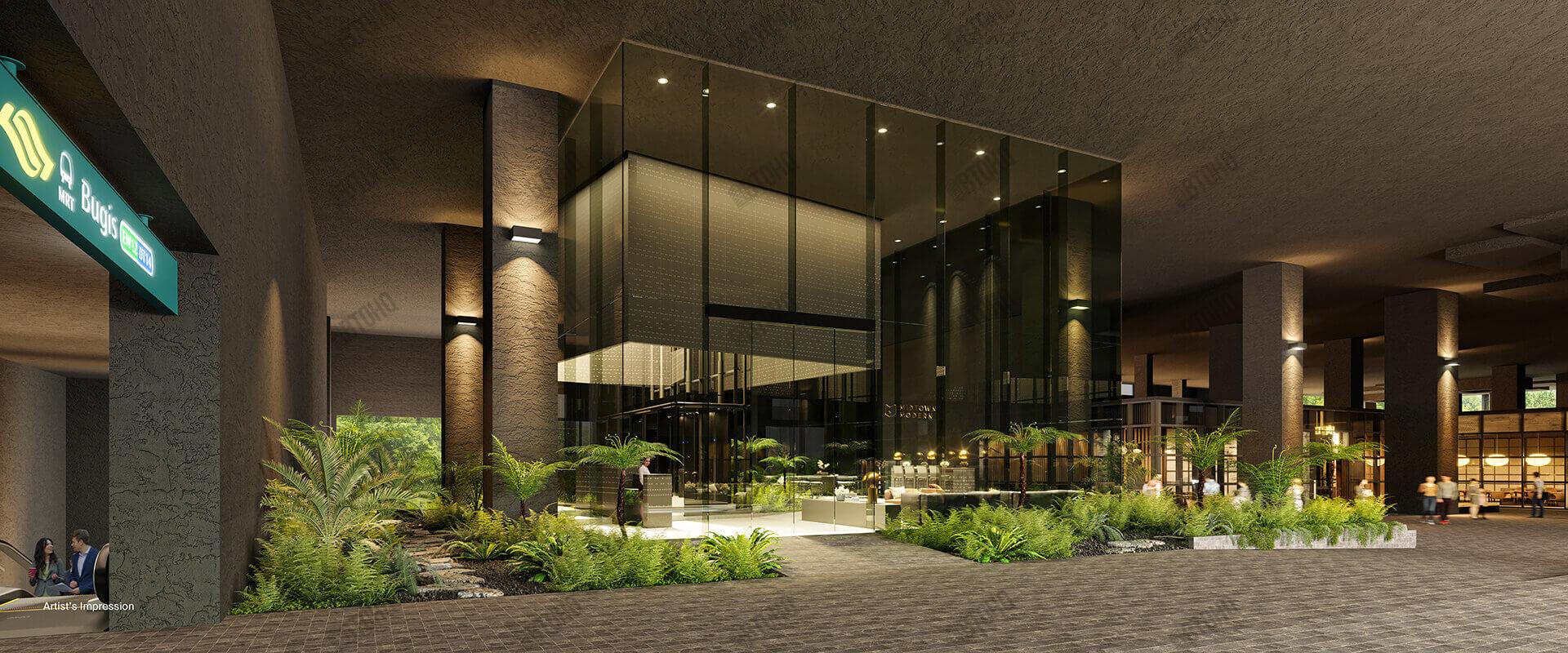 Midtown Modern Entrance
