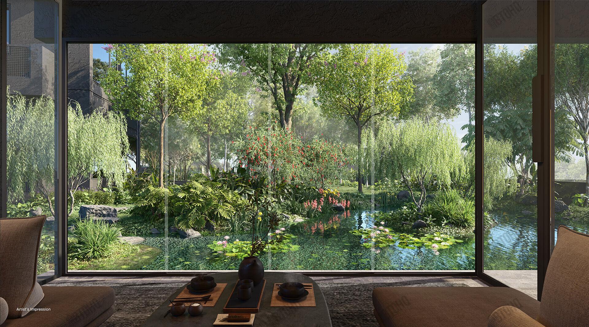 Midtown Modern Garden View